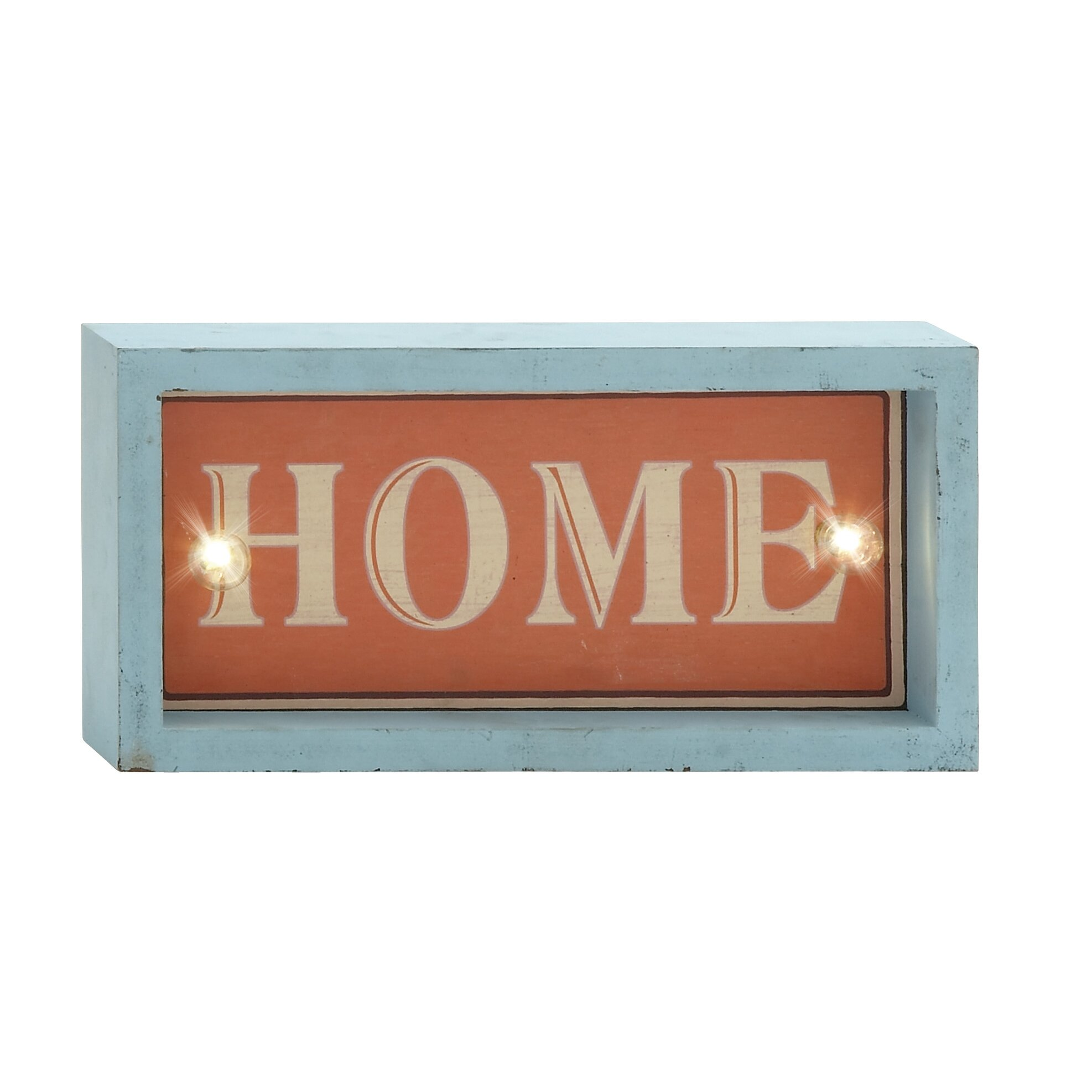 Led Sign Home Decor: August Grove Crawford LED Home Sign Wall Décor