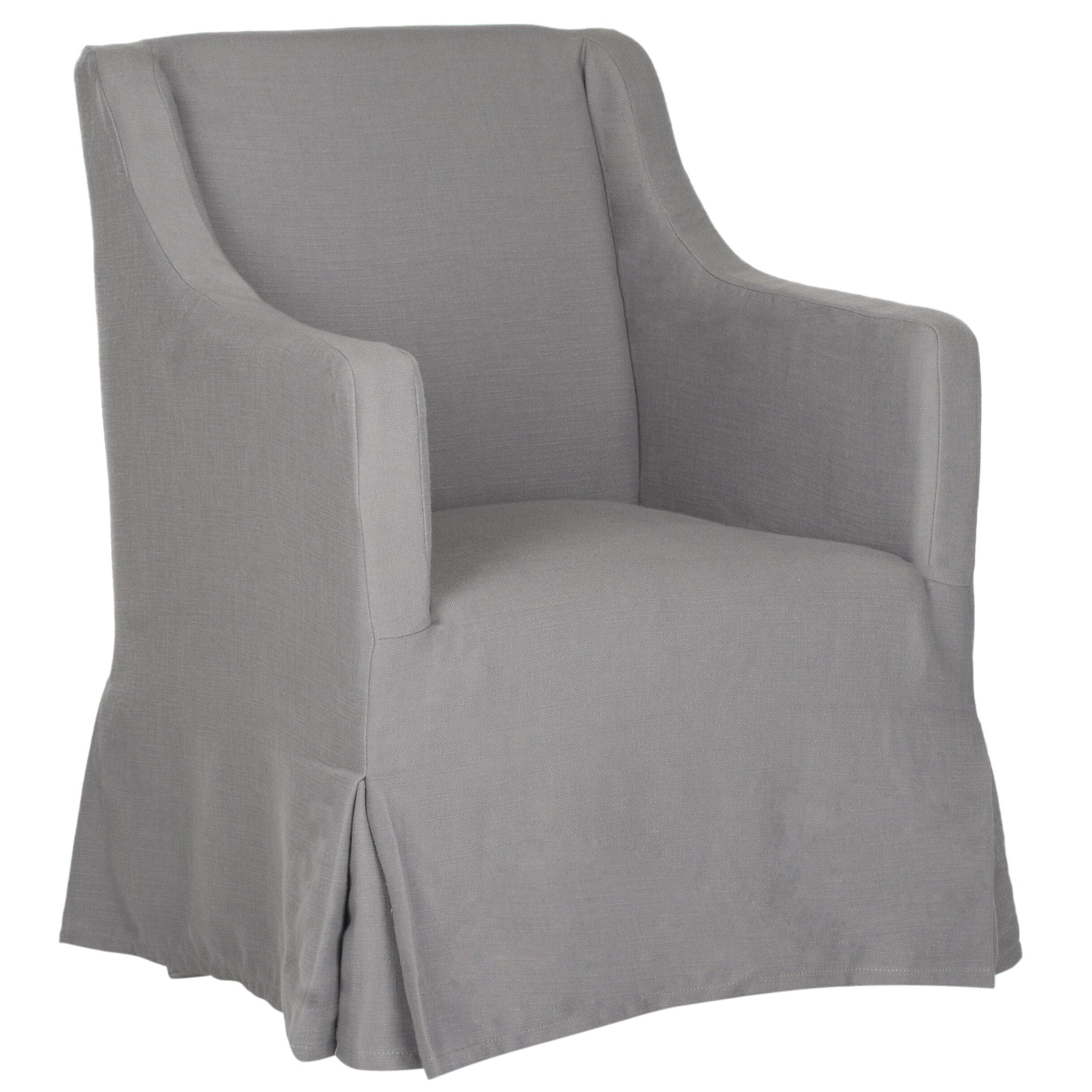 August Grove Skirted Slipcover Arm Chair Amp Reviews Wayfair