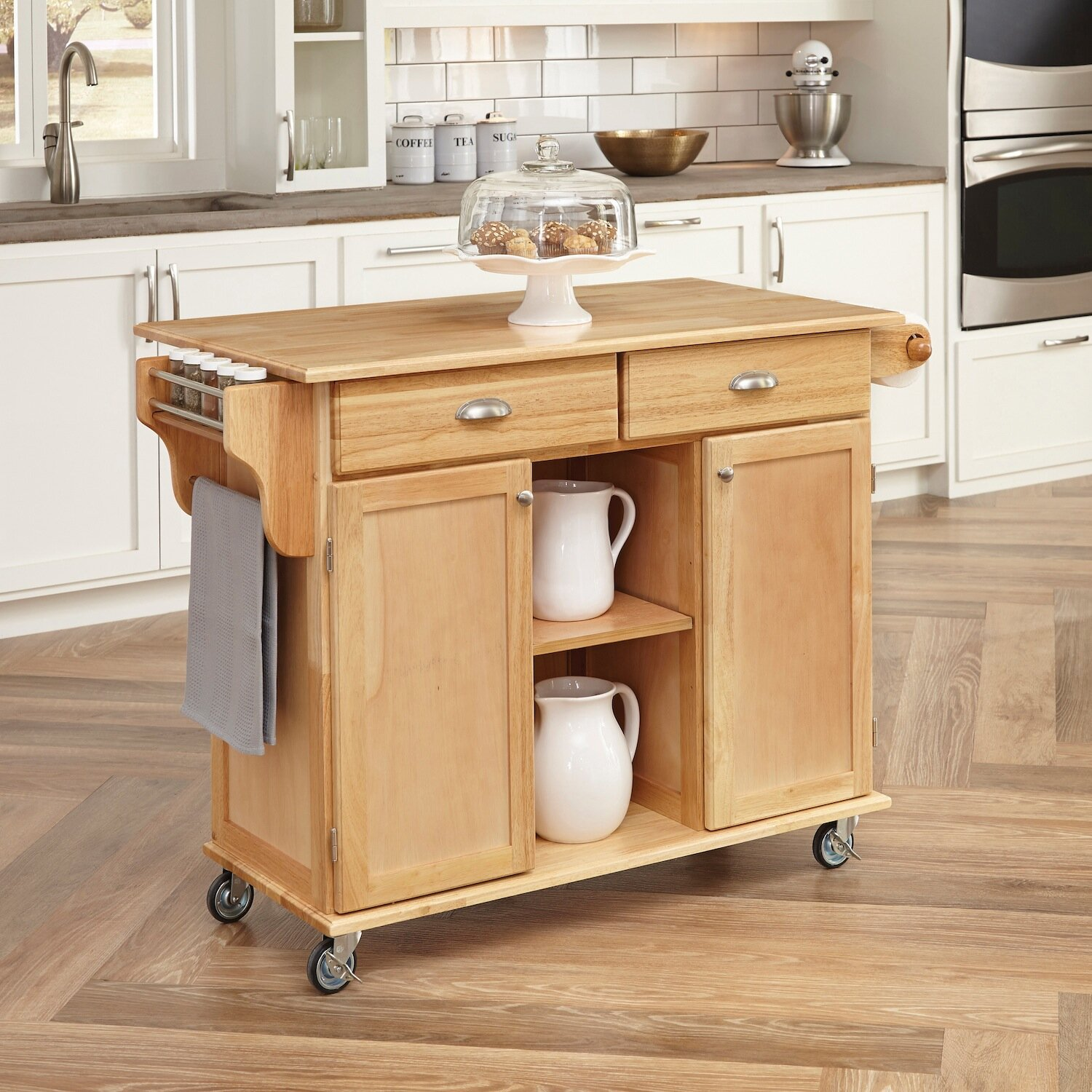 Kitchen Wood Top: August Grove Lili Kitchen Island With Wood Top & Reviews
