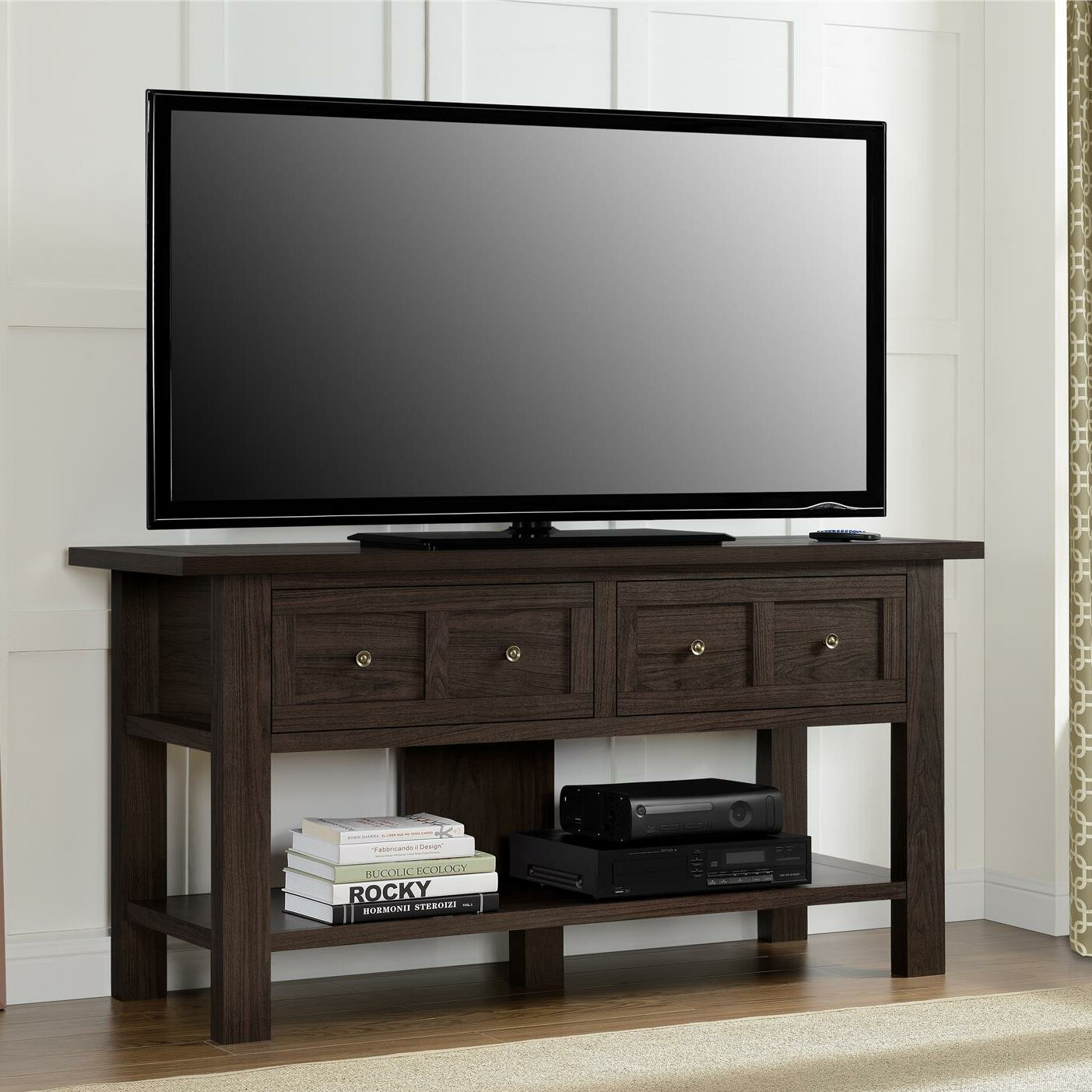 august grove loanne tv stand reviews wayfair. Black Bedroom Furniture Sets. Home Design Ideas