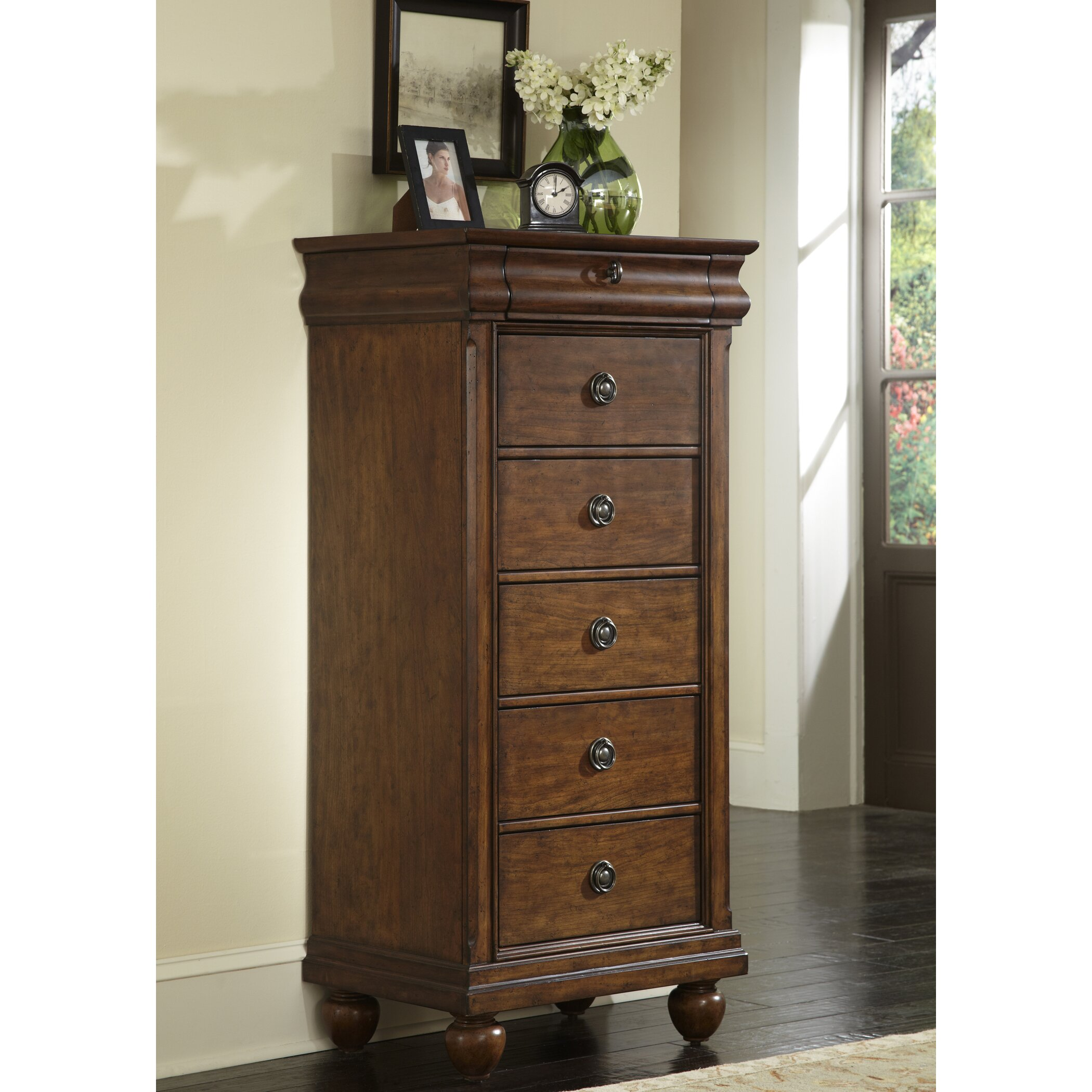 August Grove Pinesdale 5 Drawer Lingerie Chest Amp Reviews