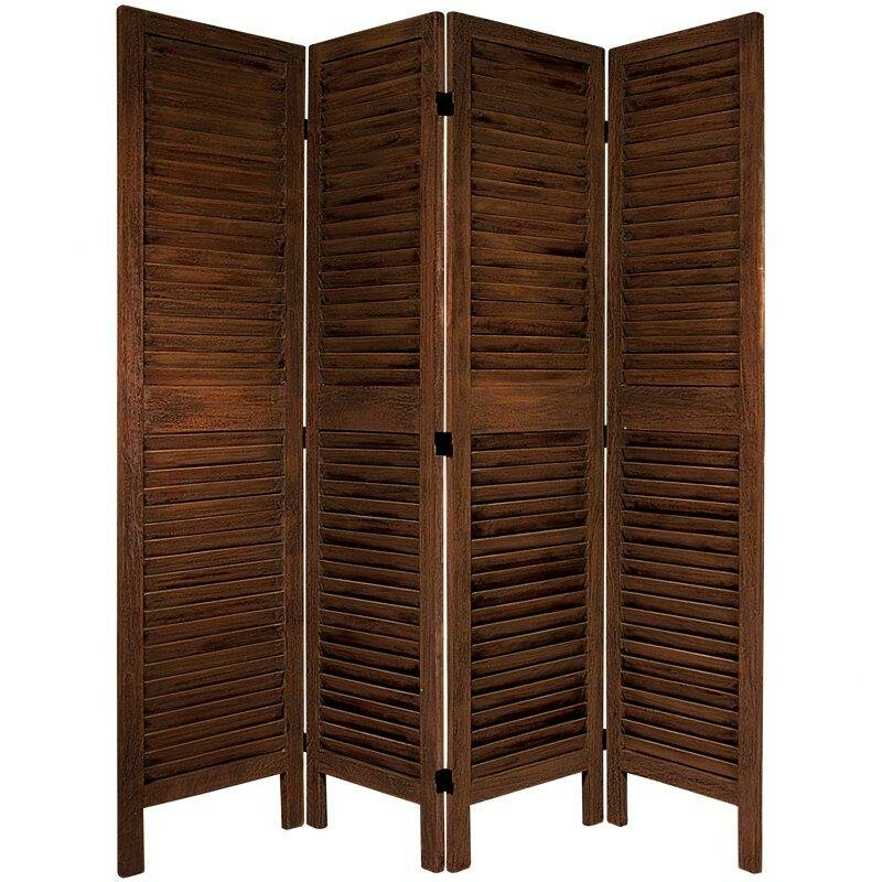 August grove jeanpierre 67 x 66 classic venetian 4 panel for Four panel room divider screen