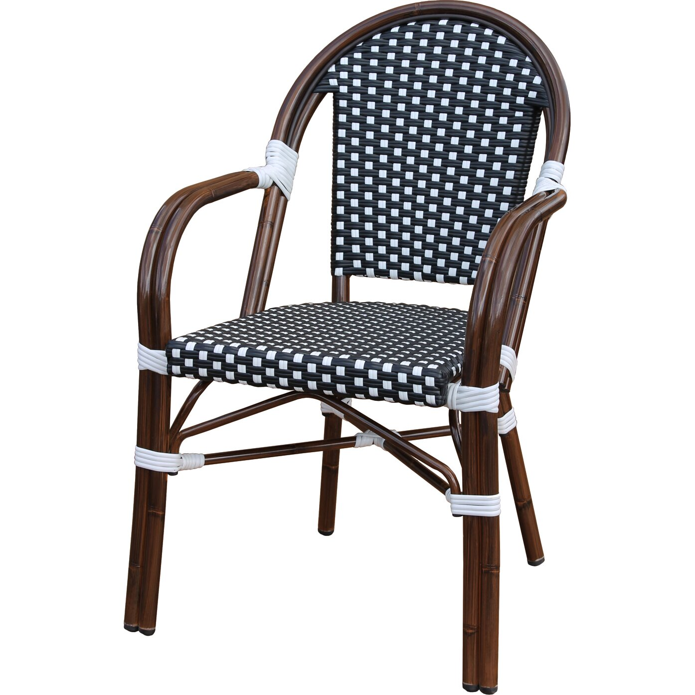 August Grove Dolly Stacking Dining Arm Chair Amp Reviews