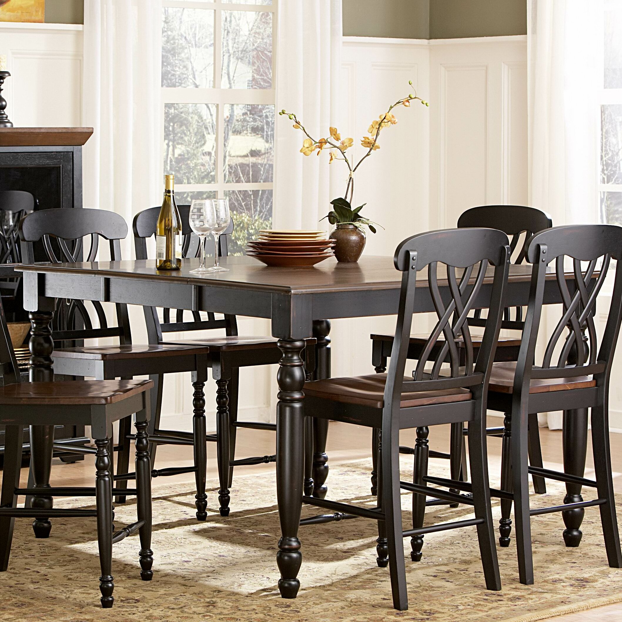 august grove frona counter height dining table reviews wayfair. Black Bedroom Furniture Sets. Home Design Ideas
