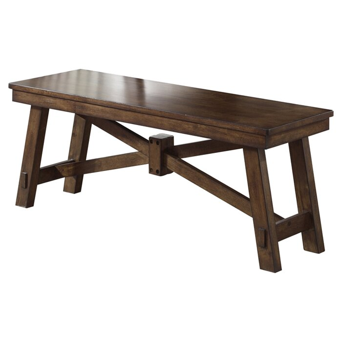 August Grove Marni Wood Kitchen Bench & Reviews