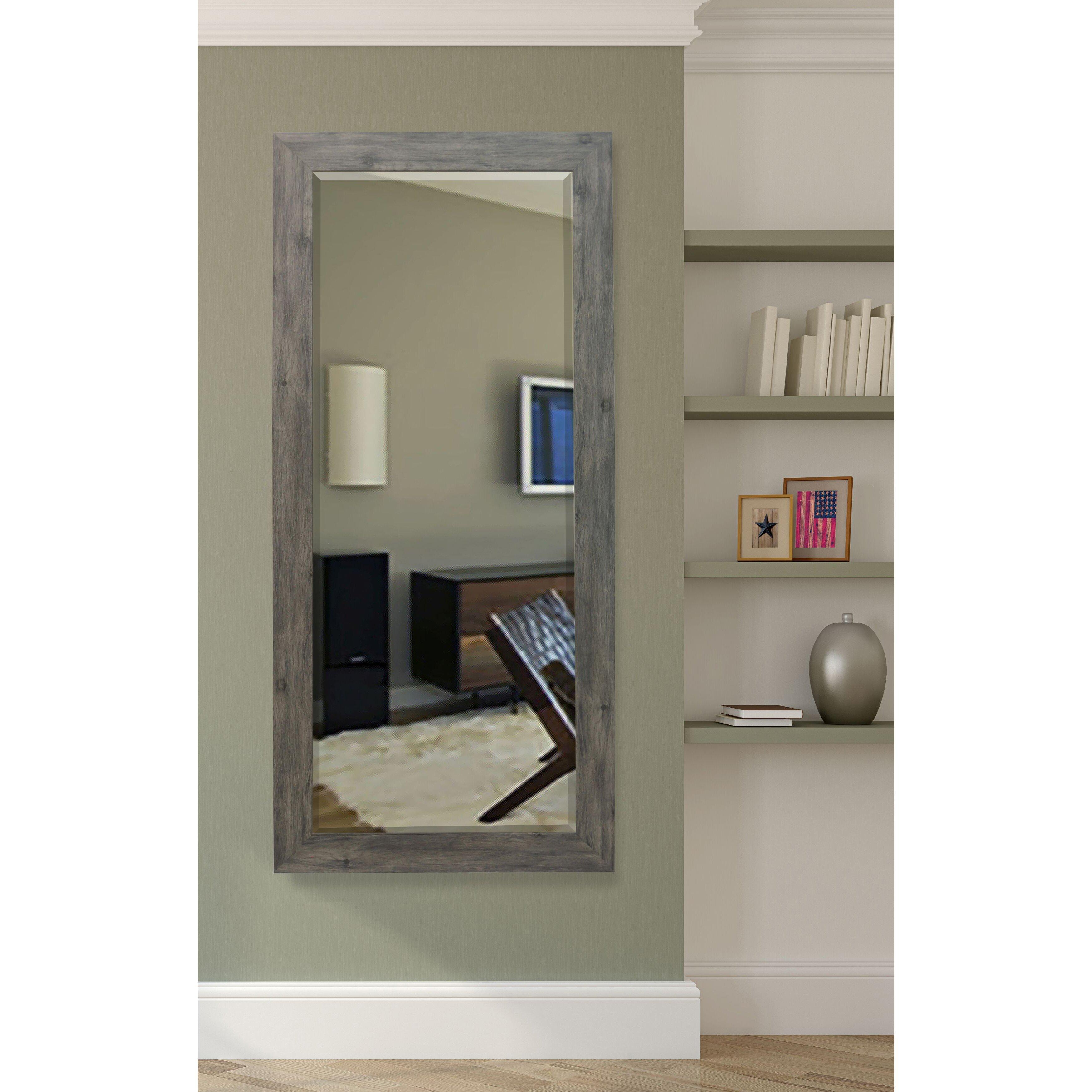 August grove extra tall floor mirror reviews wayfair for Glass floor mirror