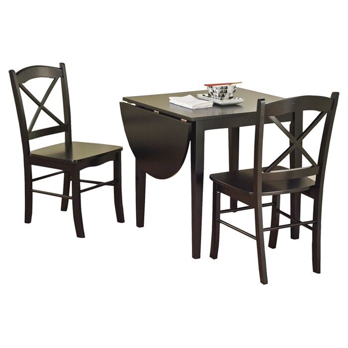 August grove wisteria 3 piece dining set reviews wayfair for 3 piece dining room