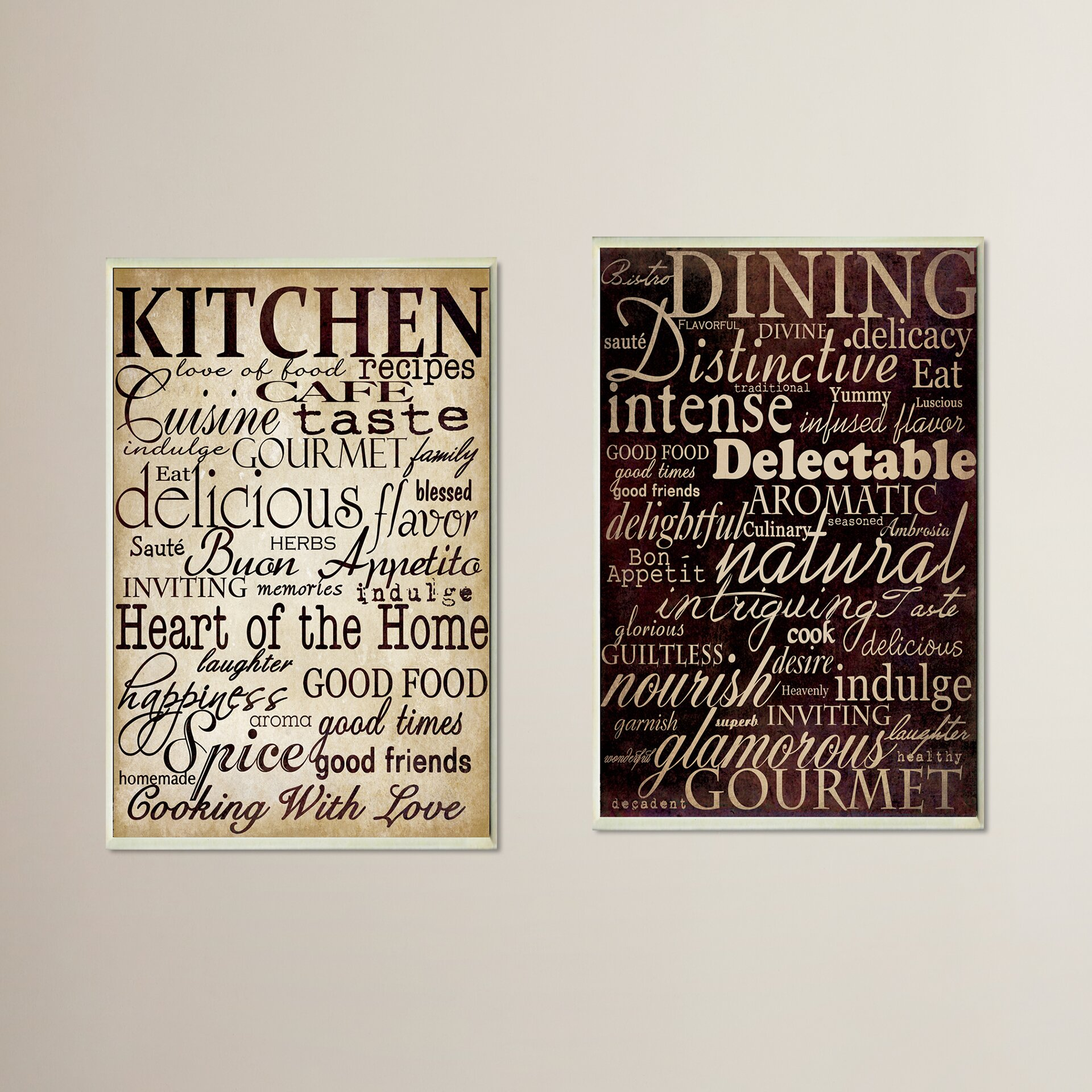 August grove isabell dining and kitchen 2 piece kitchen for Kitchen and dining wall art