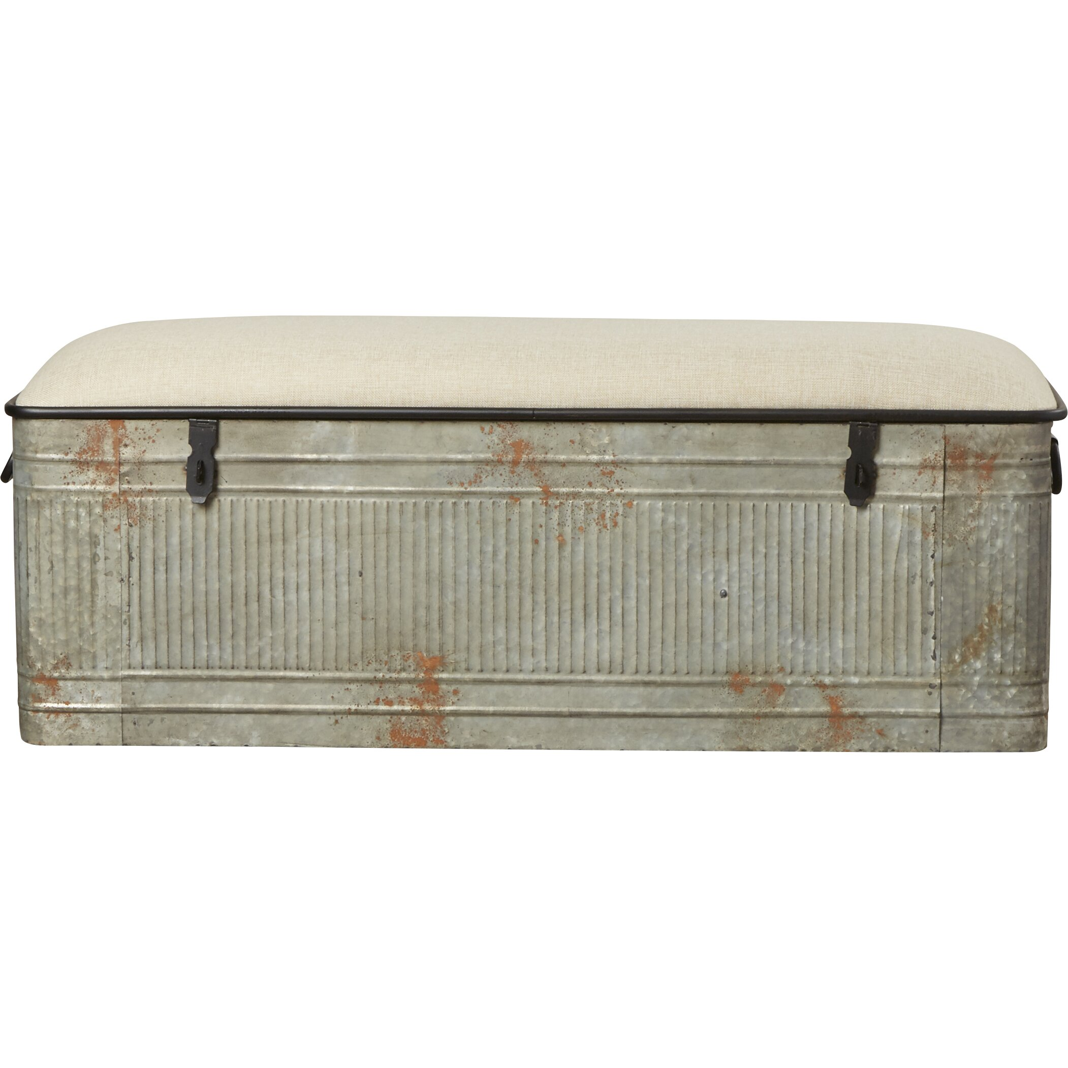 August Grove Dublin Metal Storage Bedroom Bench Amp Reviews
