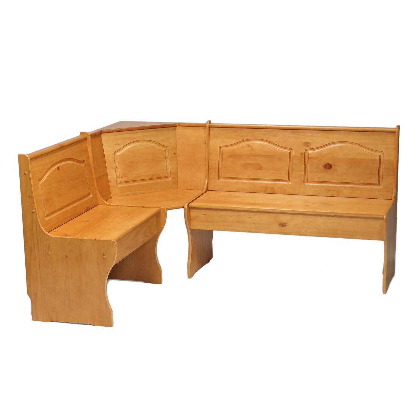 August Grove Patty Solid Wood Corner Kitchen Bench