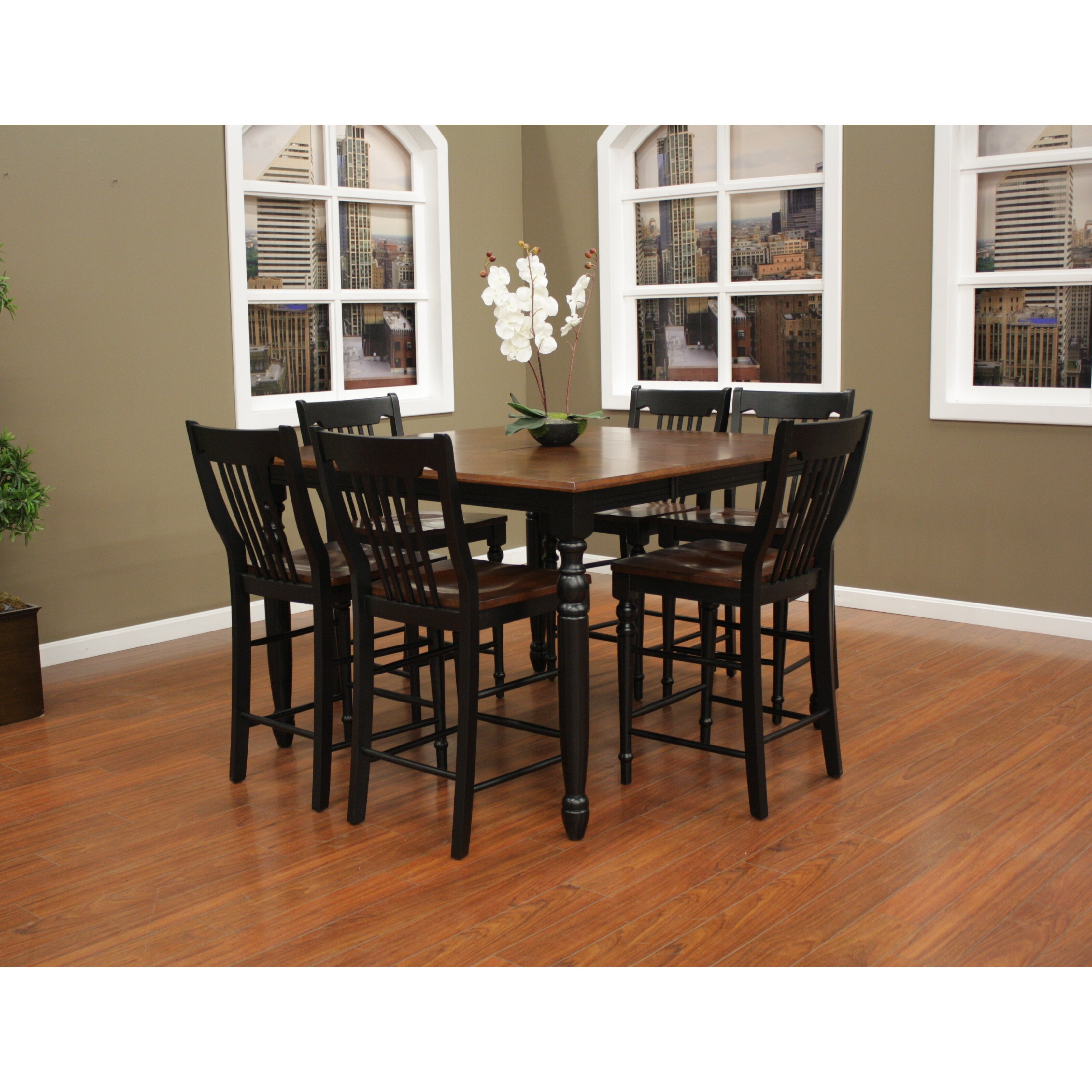Grove deer lodge 7 piece counter height dining set amp for 7 piece dining room set counter height
