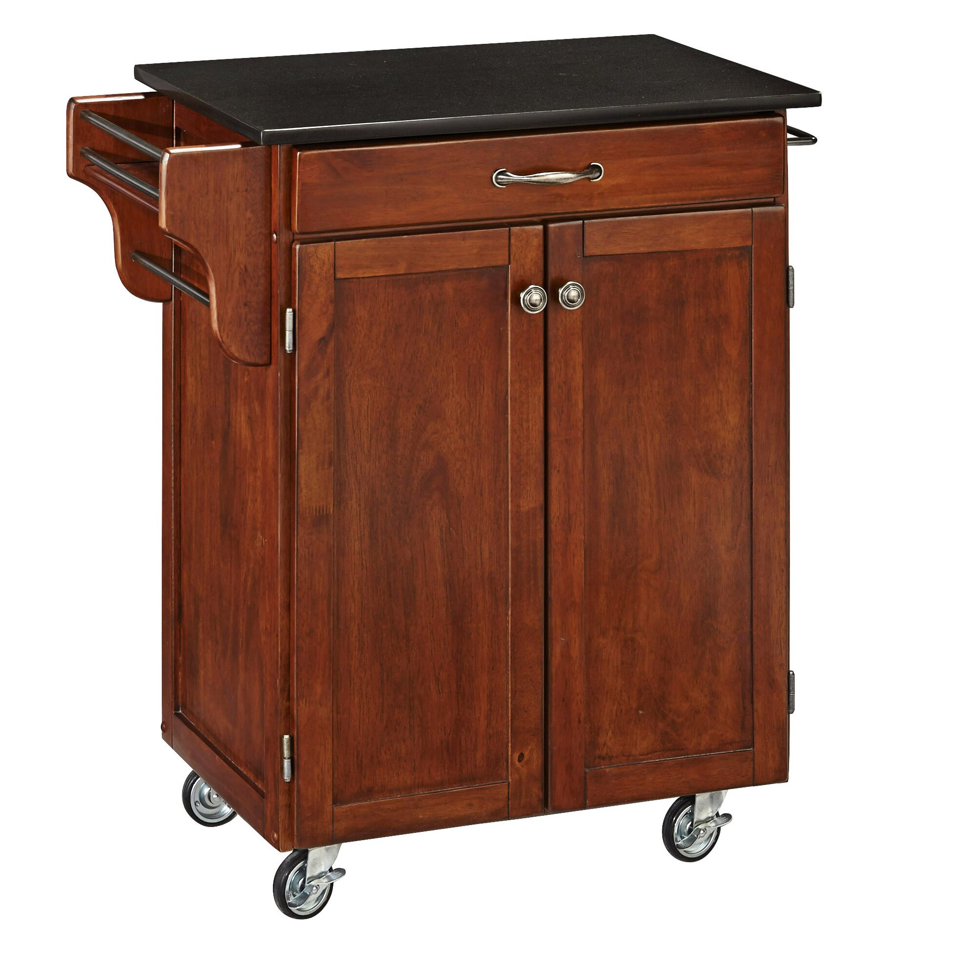 august grove savorey kitchen cart with granite top reviews. Black Bedroom Furniture Sets. Home Design Ideas