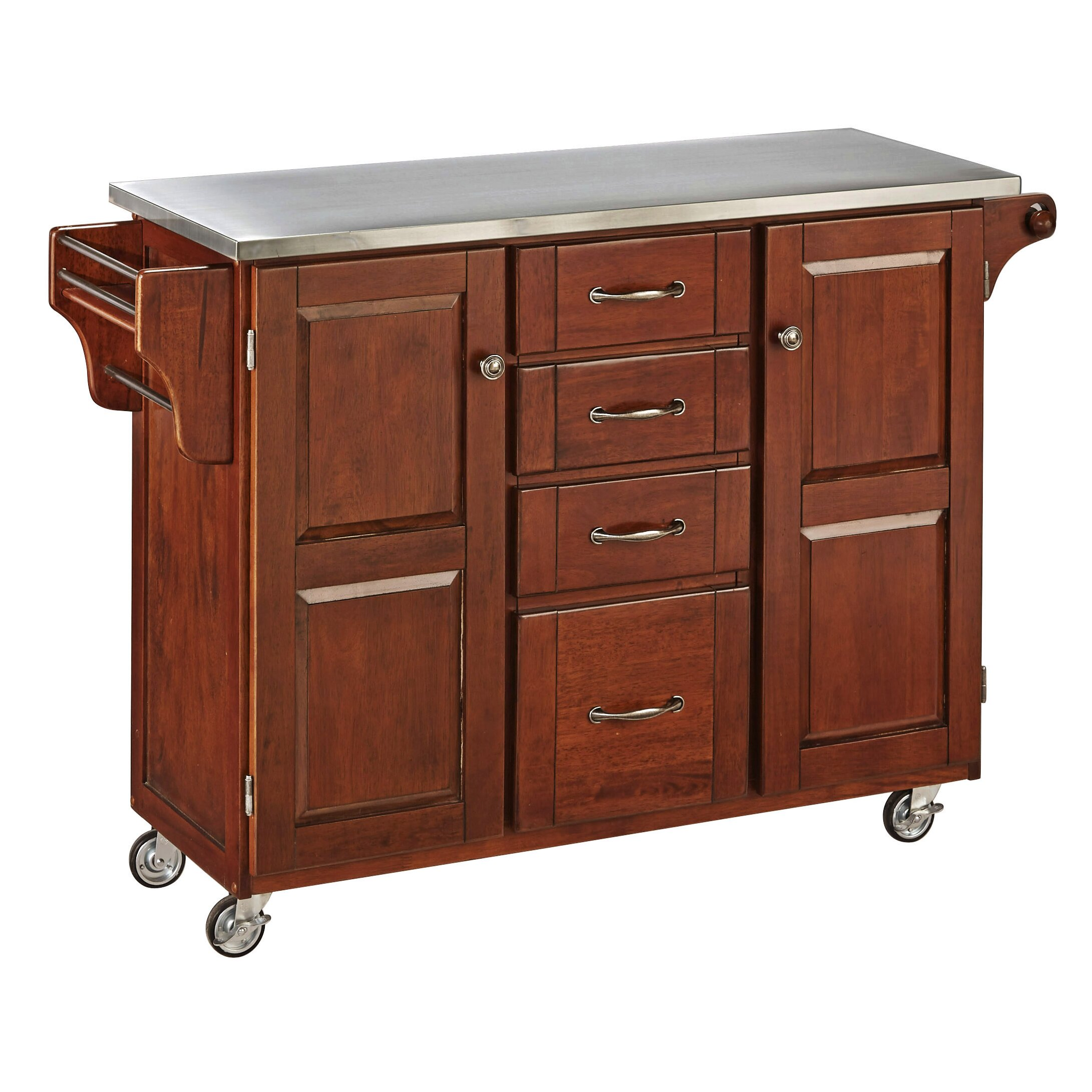 Cocina Kitchen Cart With Stainless Steel Top: August Grove Adelle-a-Cart Kitchen Island With Stainless