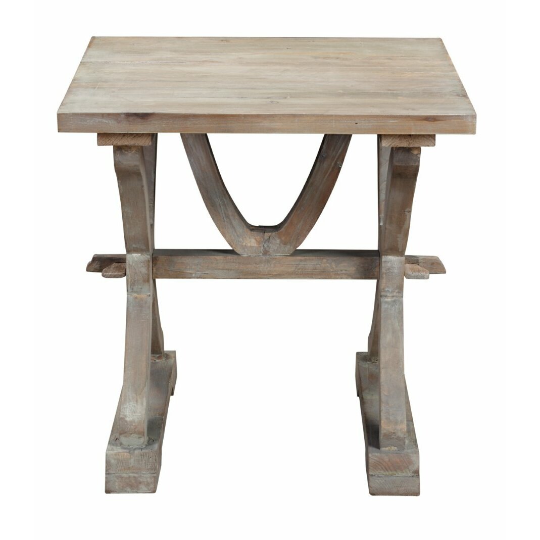 One allium way canterbury reclaimed wood end table
