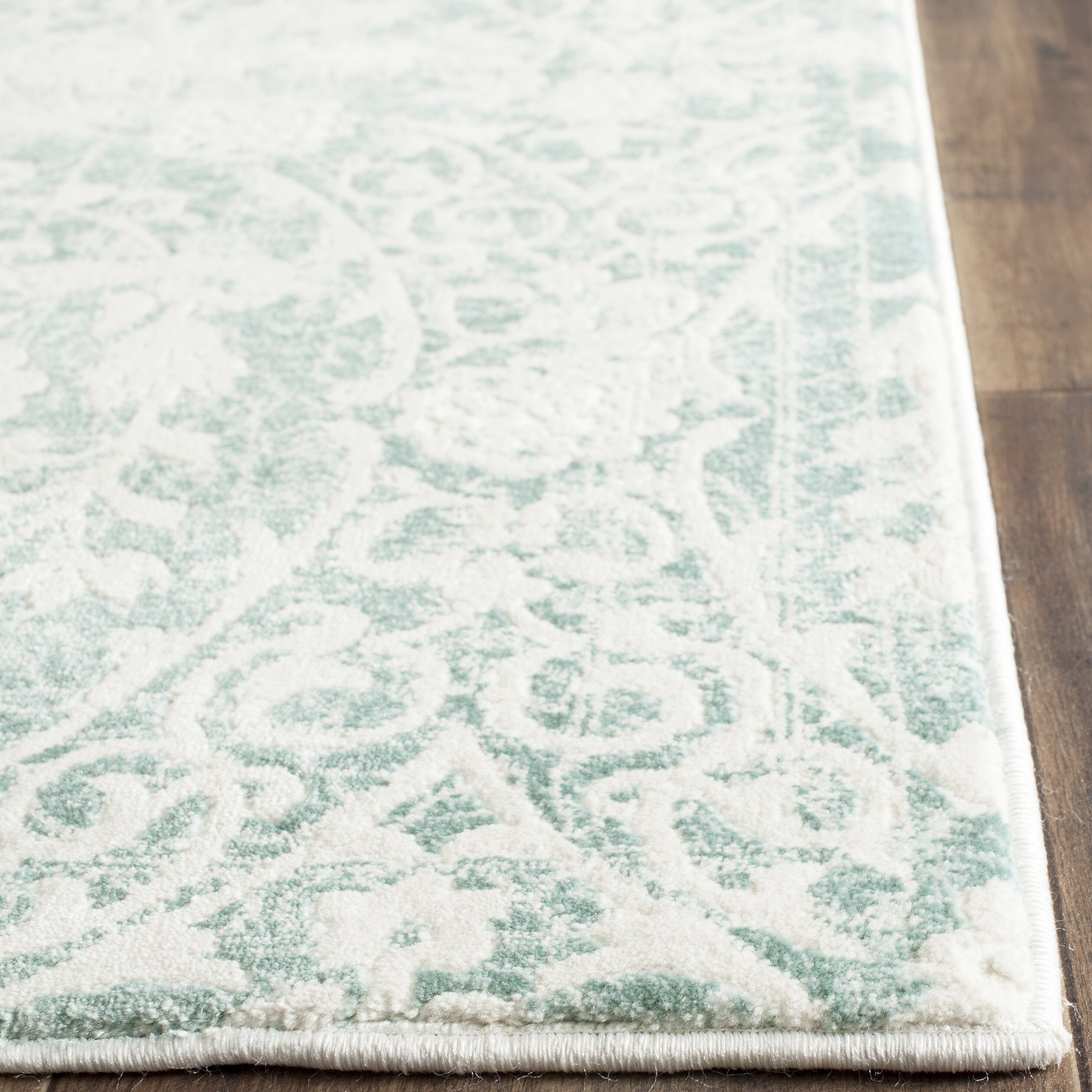 One Allium Way Auguste Turquoise Ivory Area Rug Amp Reviews