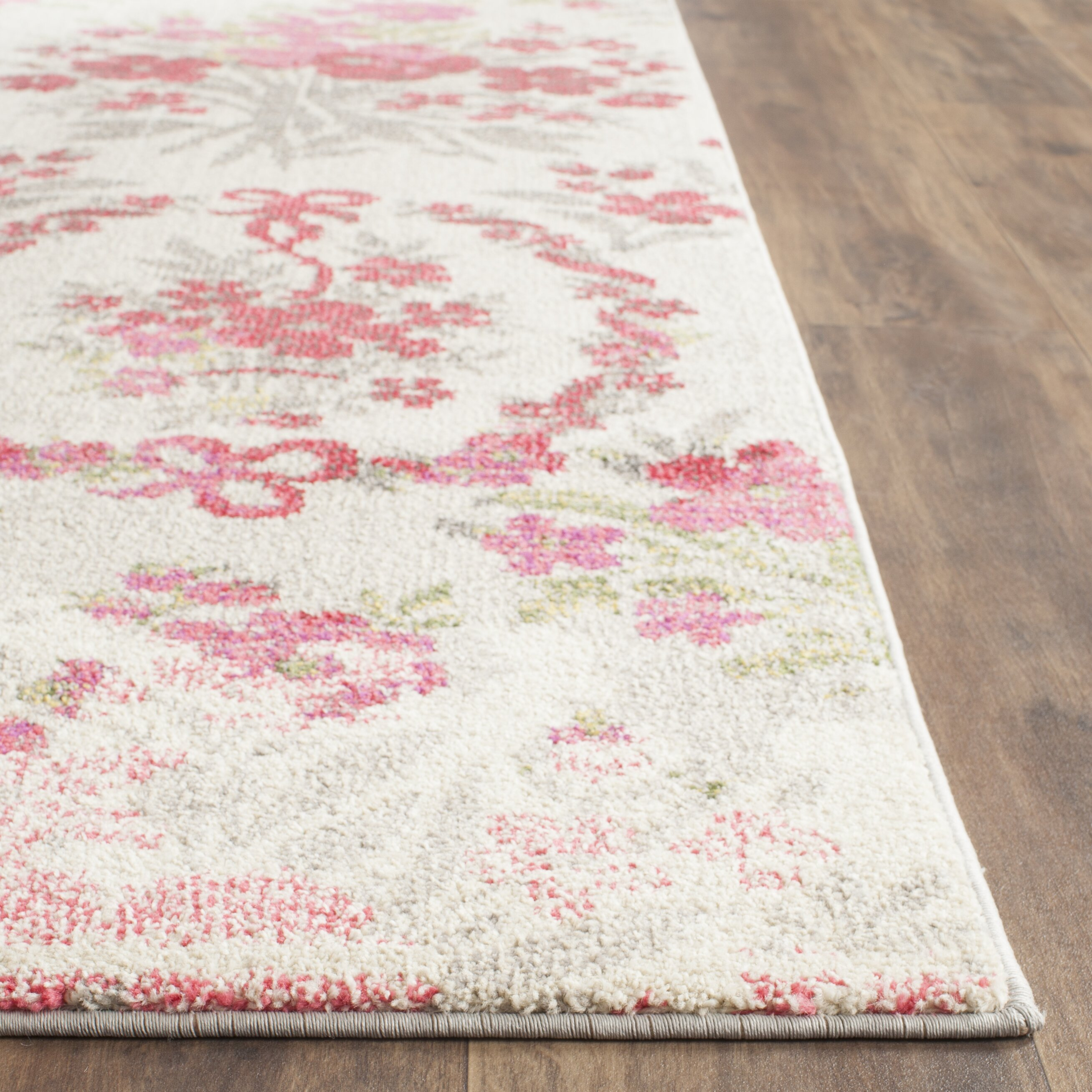 One Allium Way Monaco Ivory/Pink Area Rug & Reviews