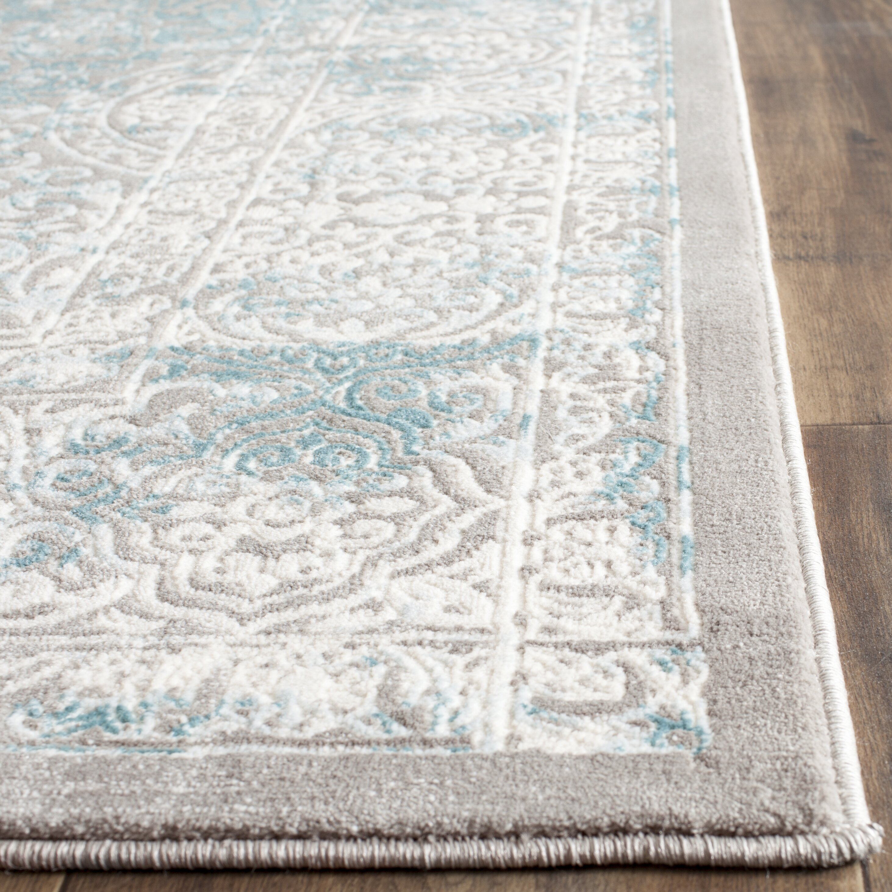 One Allium Way Auguste Turquoise Ivory Area Rug Reviews