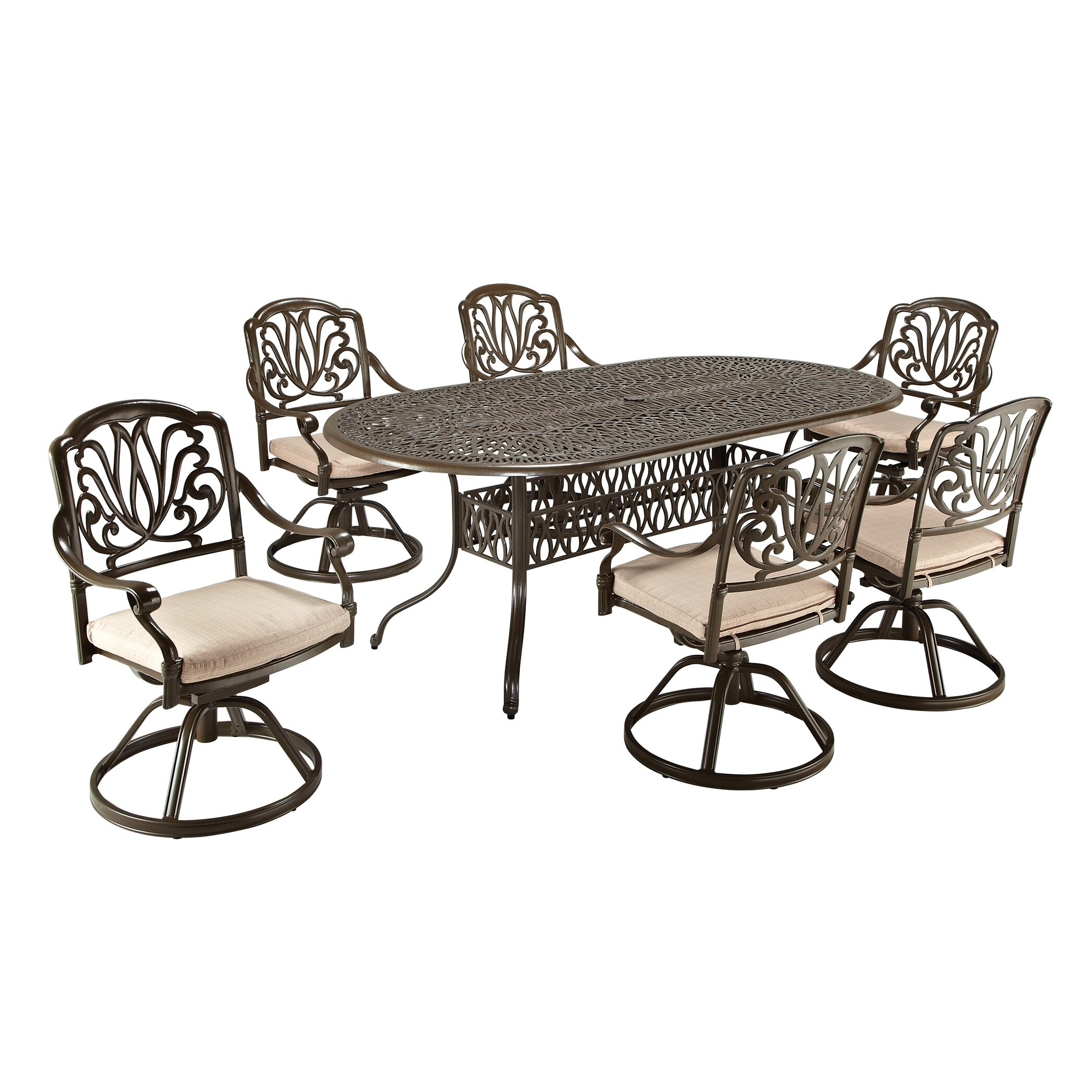 How to make seat cushions for dining chairs moreover white resin - Outdoor Dining Chair Cushions One Piece One Allium Way Artie 7 Piece Dining Set With