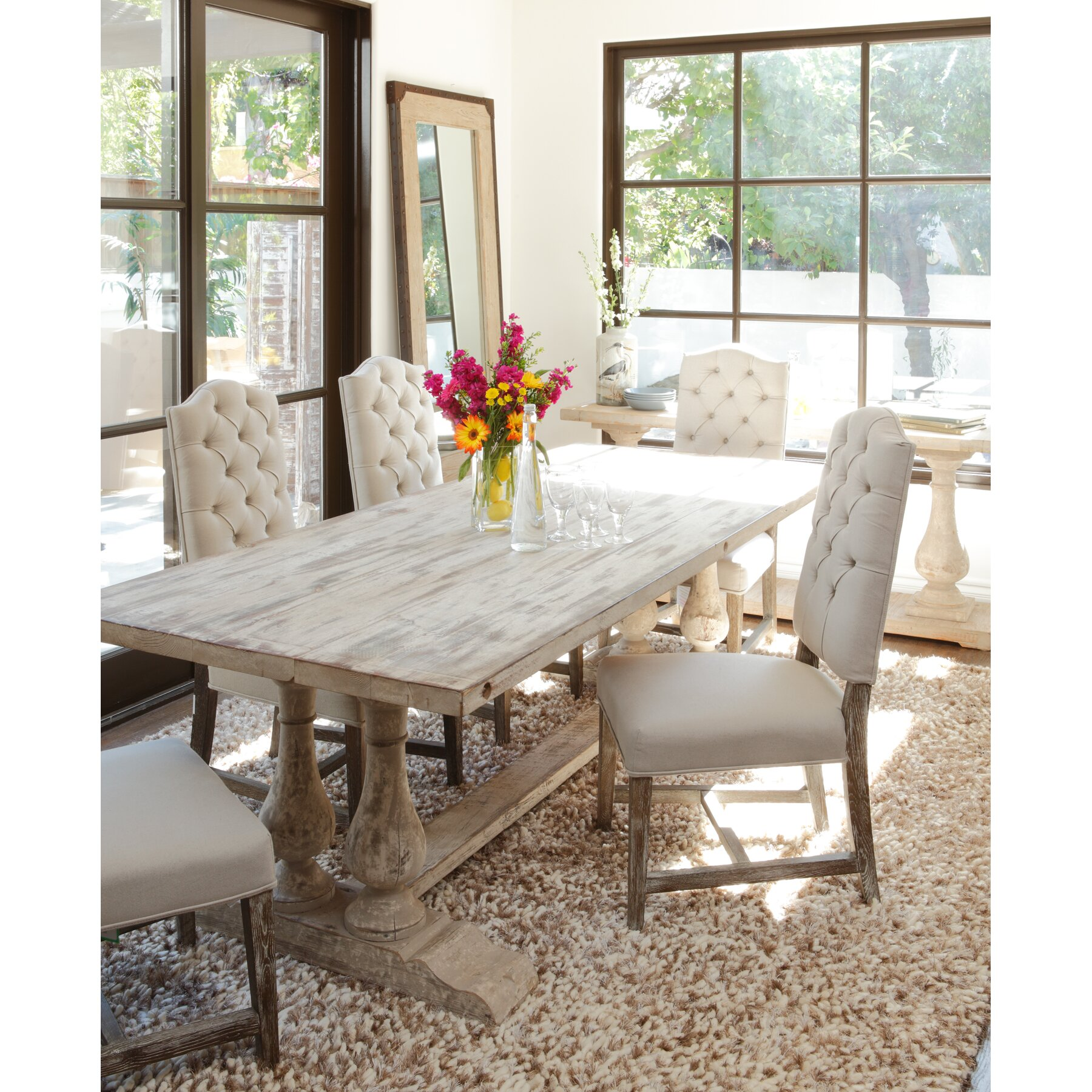 One Dining Room Three Different Ways: One Allium Way Francoise Dining Table & Reviews