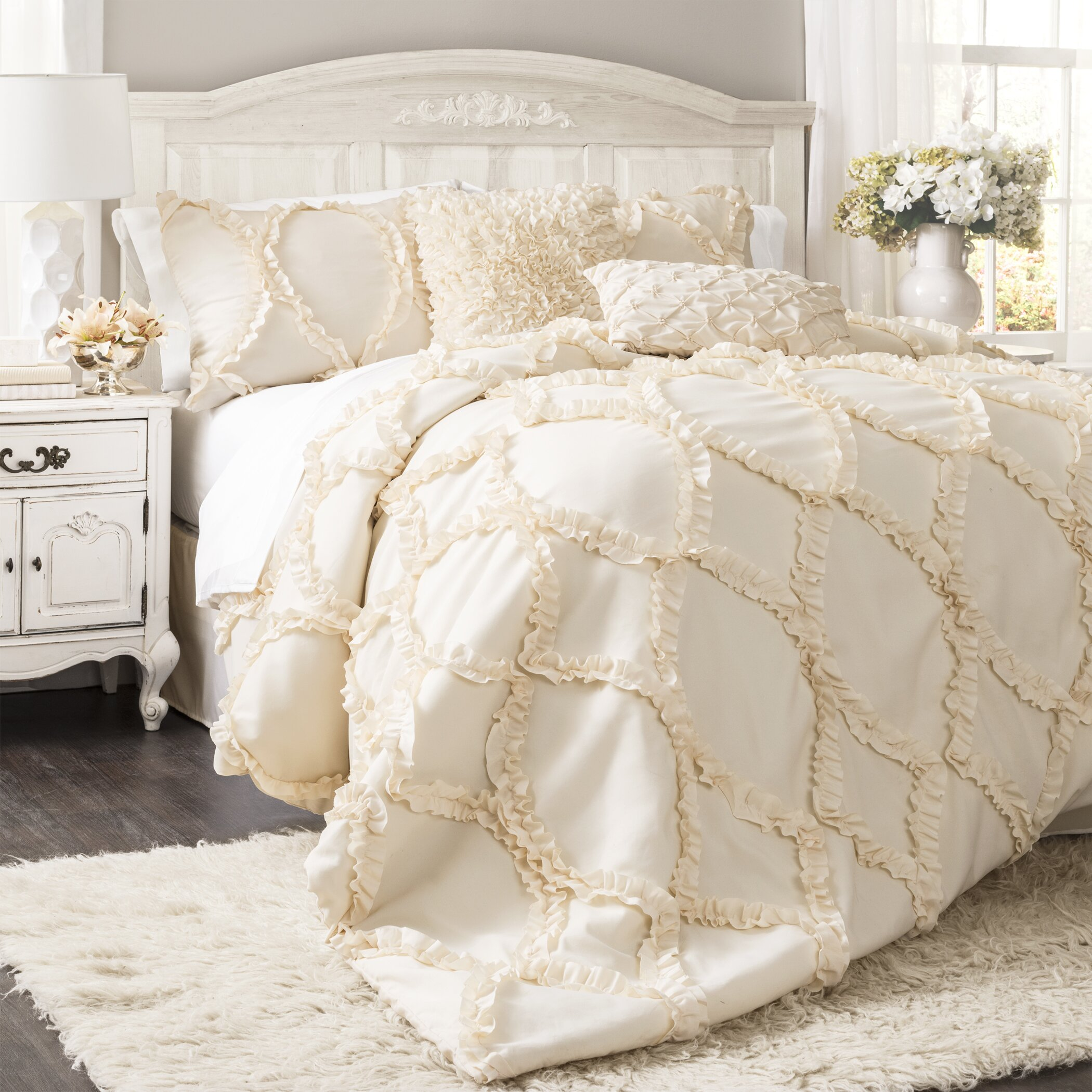 One allium way council 3 piece comforter set reviews for Bedroom quilt ideas