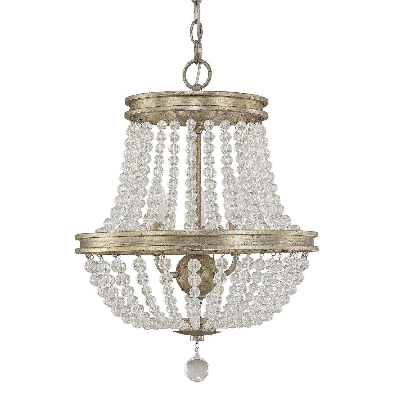One allium way lillian 3 light crystal chandelier - Most popular chandeliers ...