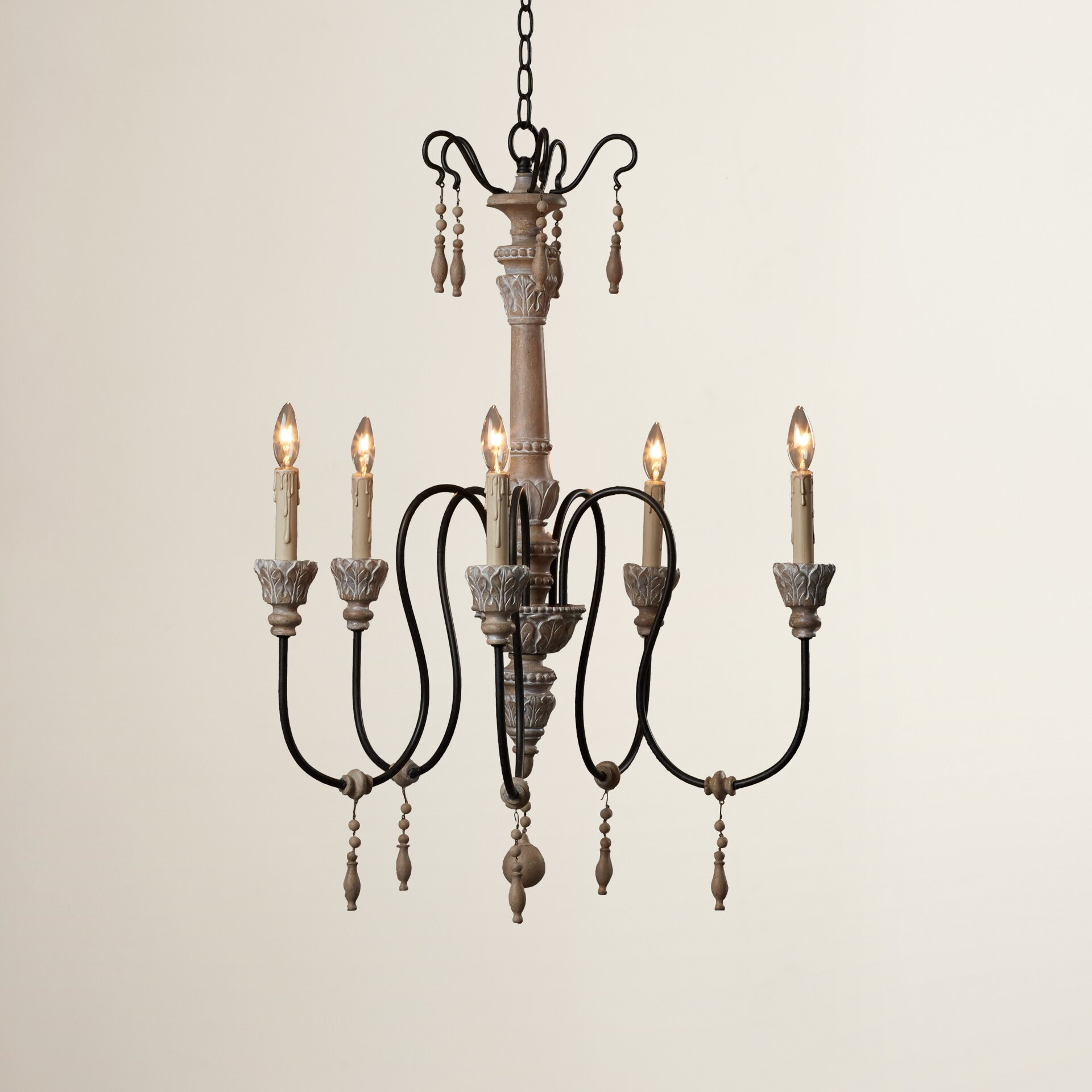 One allium way camille 5 light candle chandelier reviews wayfair - Lighting and chandeliers ...