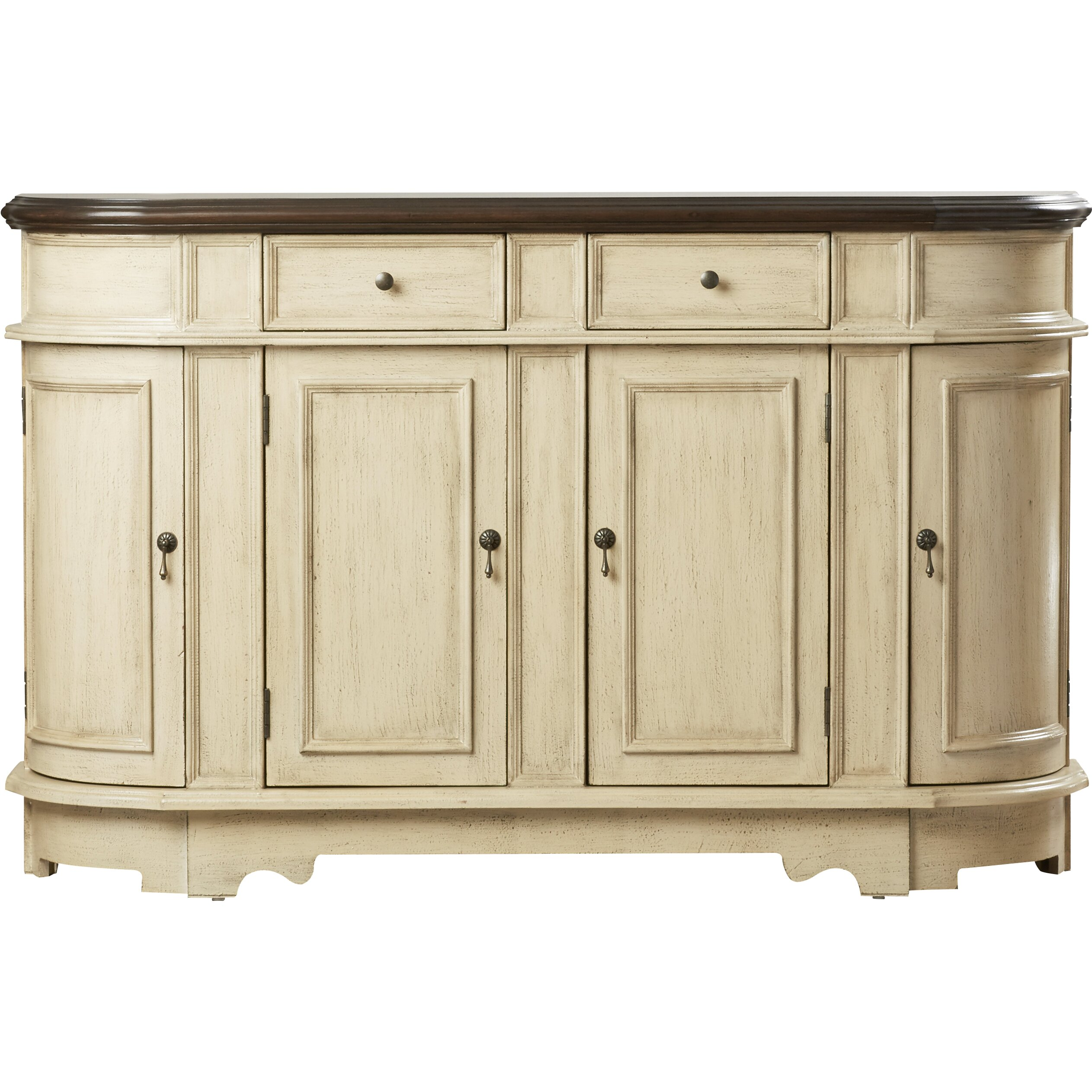 One Allium Way Tiger 2 Drawer 4 Door Accent Cabinet
