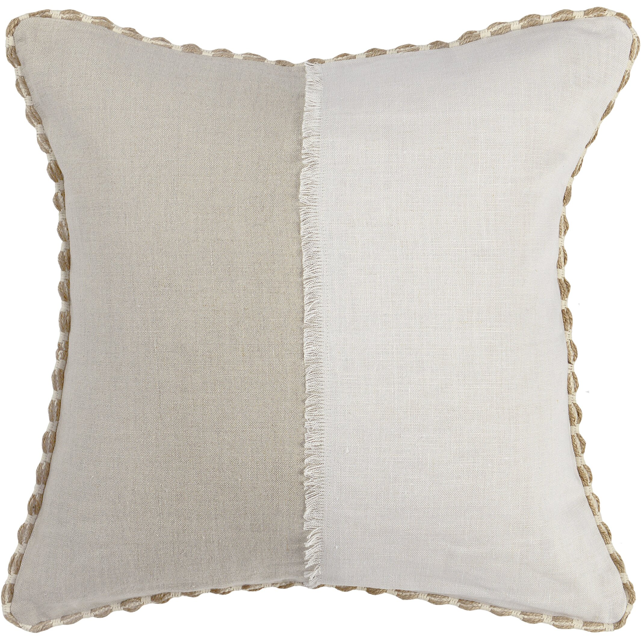 Lavender Throw Pillows : One Allium Way Champaign Linen Throw Pillow Wayfair