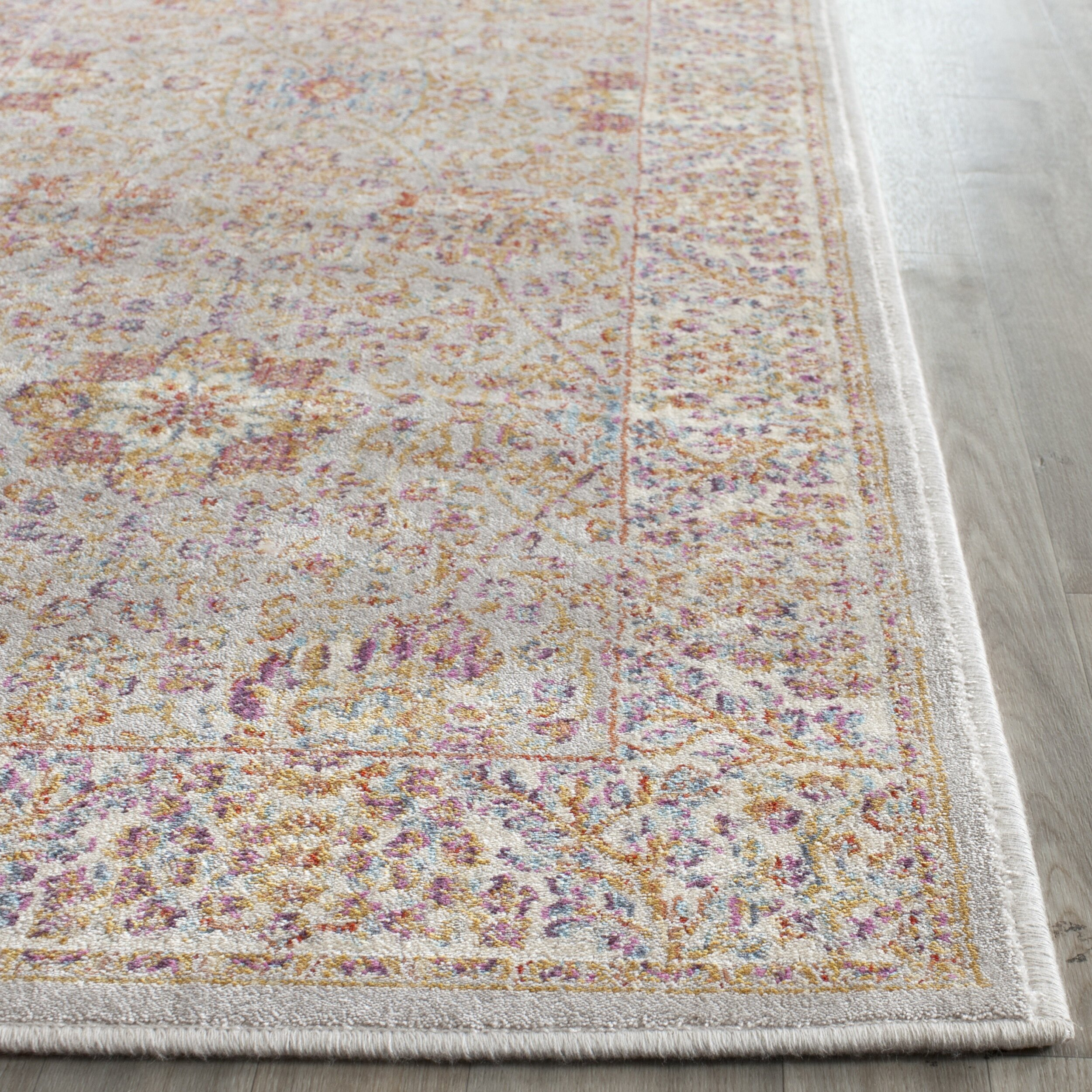 Washable Rugs Denby Dale: One Allium Way Shady Dale Silver/Ivory Area Rug