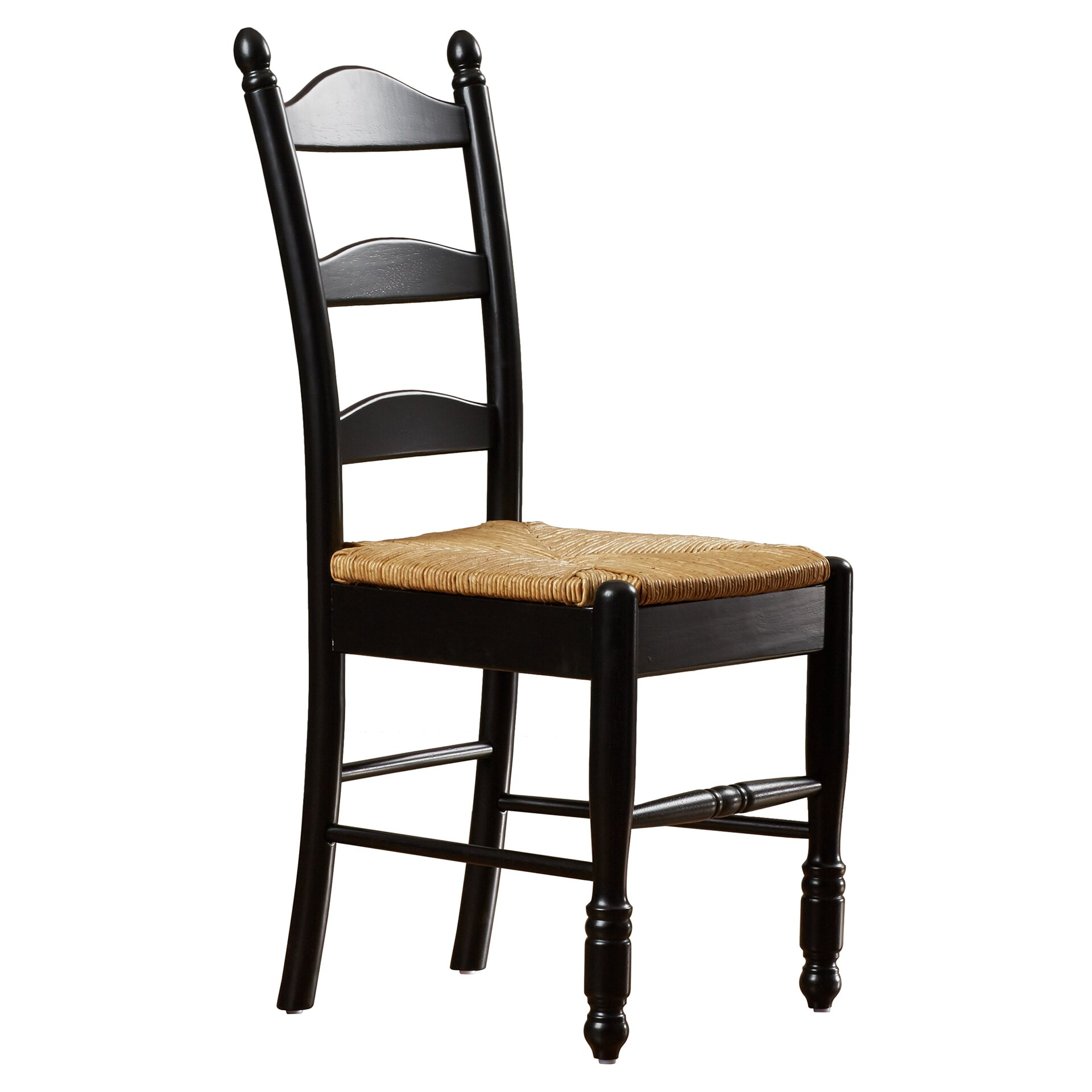One allium way leonora ladder back side chair reviews Ladder back chairs
