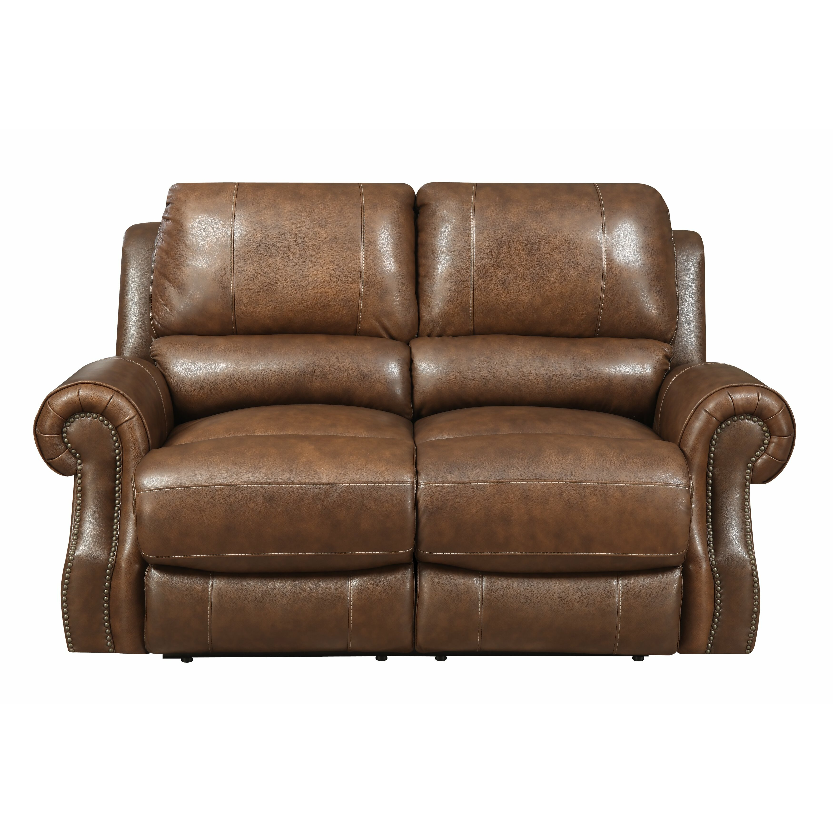 One Allium Way Navarrette Power Motion Leather Reclining