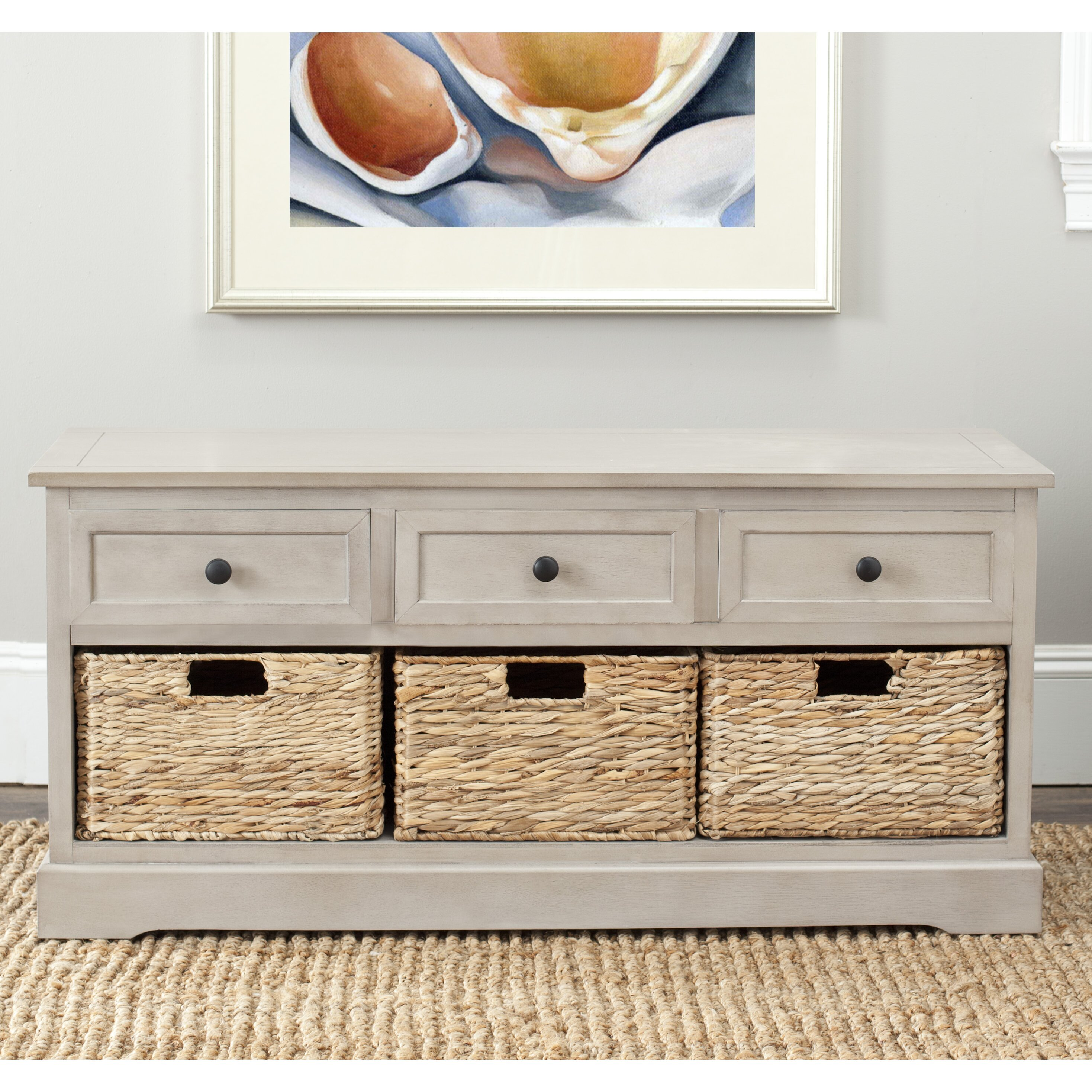 Foyer Bench With Drawers : Beachcrest home mckinley drawer storage entryway bench