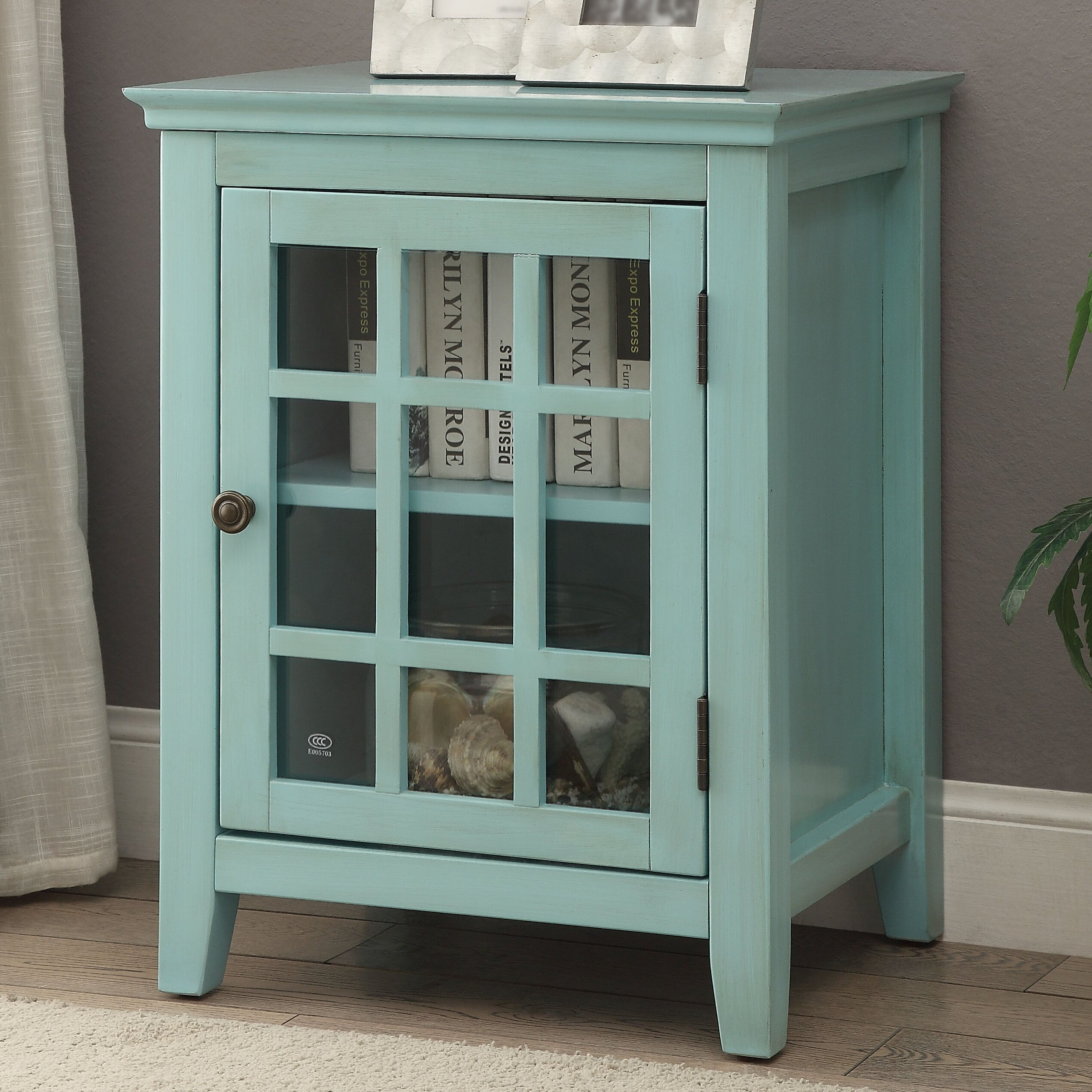 Beachcrest home naples park antique single door cabinet for One day doors and closets reviews