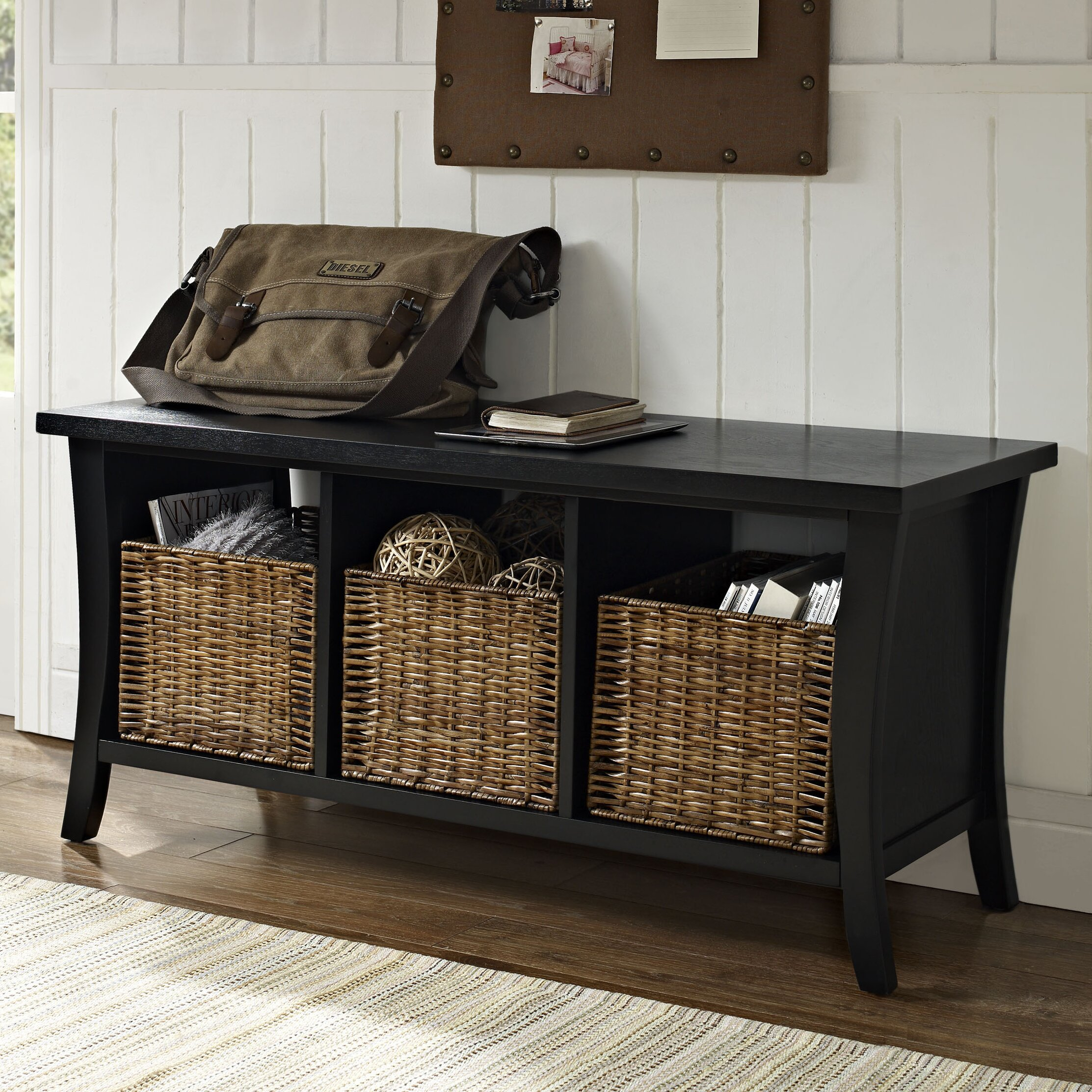 entryway benches with storage organizing | Beachcrest Home Lewisetta Entryway Storage Bench & Reviews ...