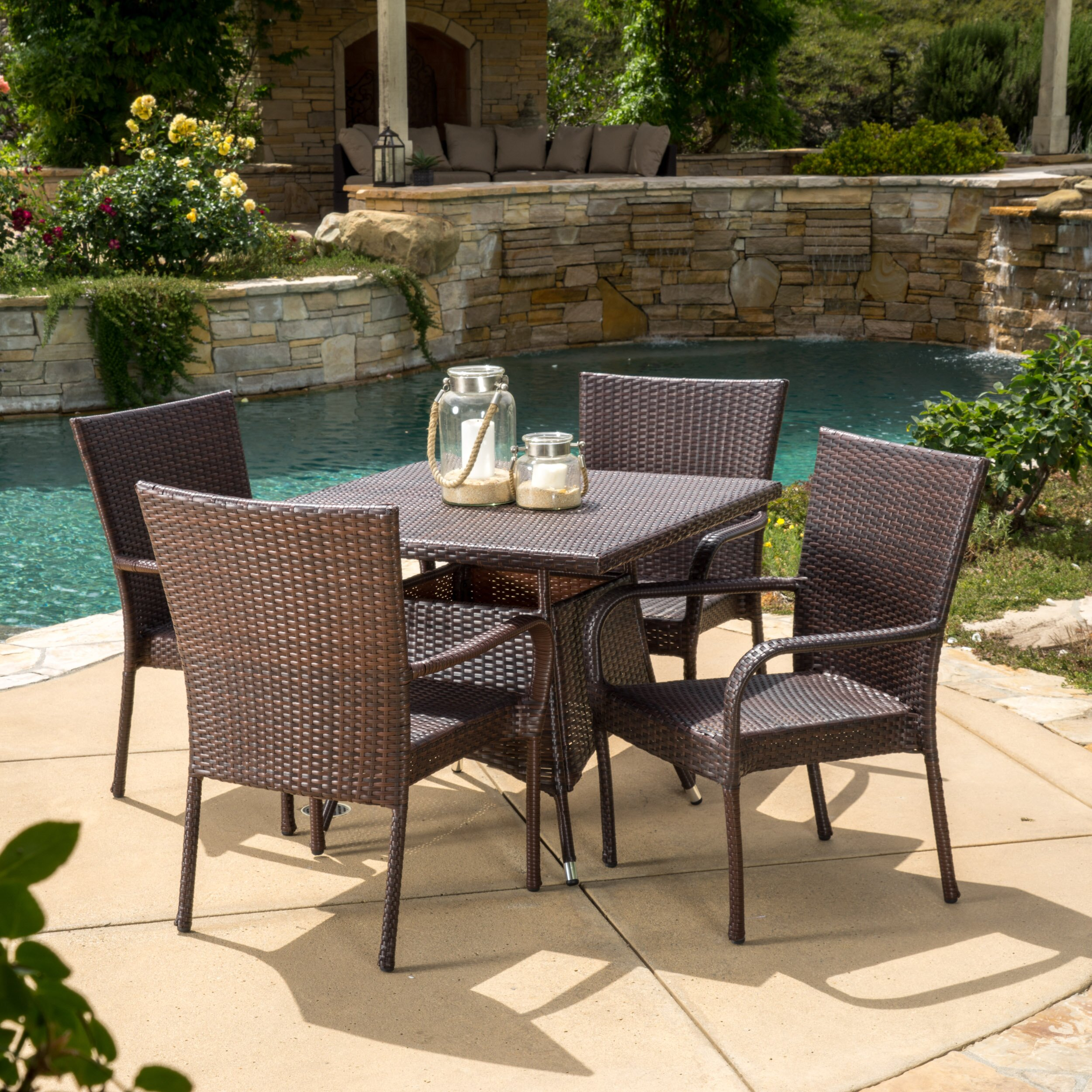 Brayden Studio Geren 5 Piece Dining Set Reviews Wayfair