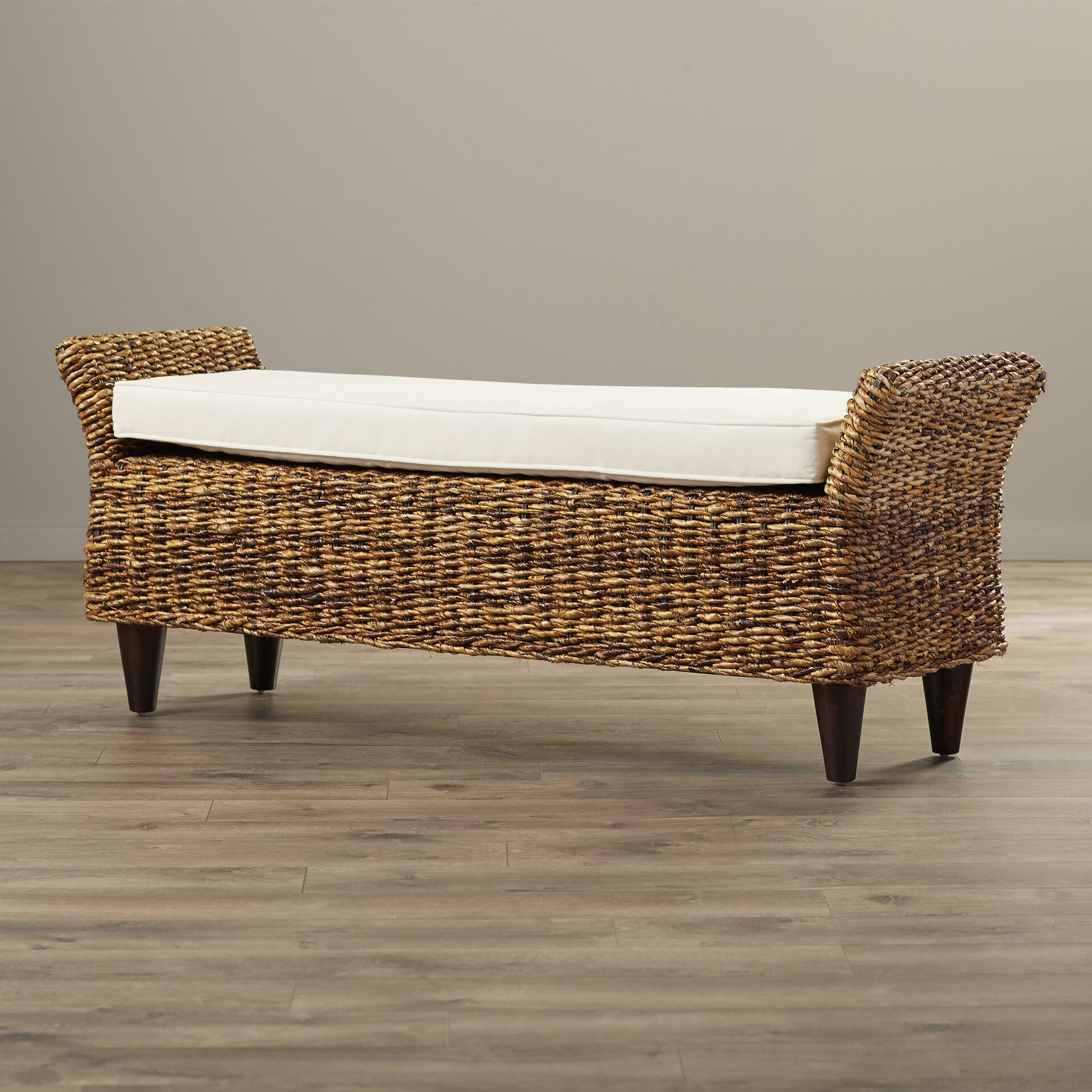 Beachcrest Home Pinedale Abaca Bench Reviews Wayfair