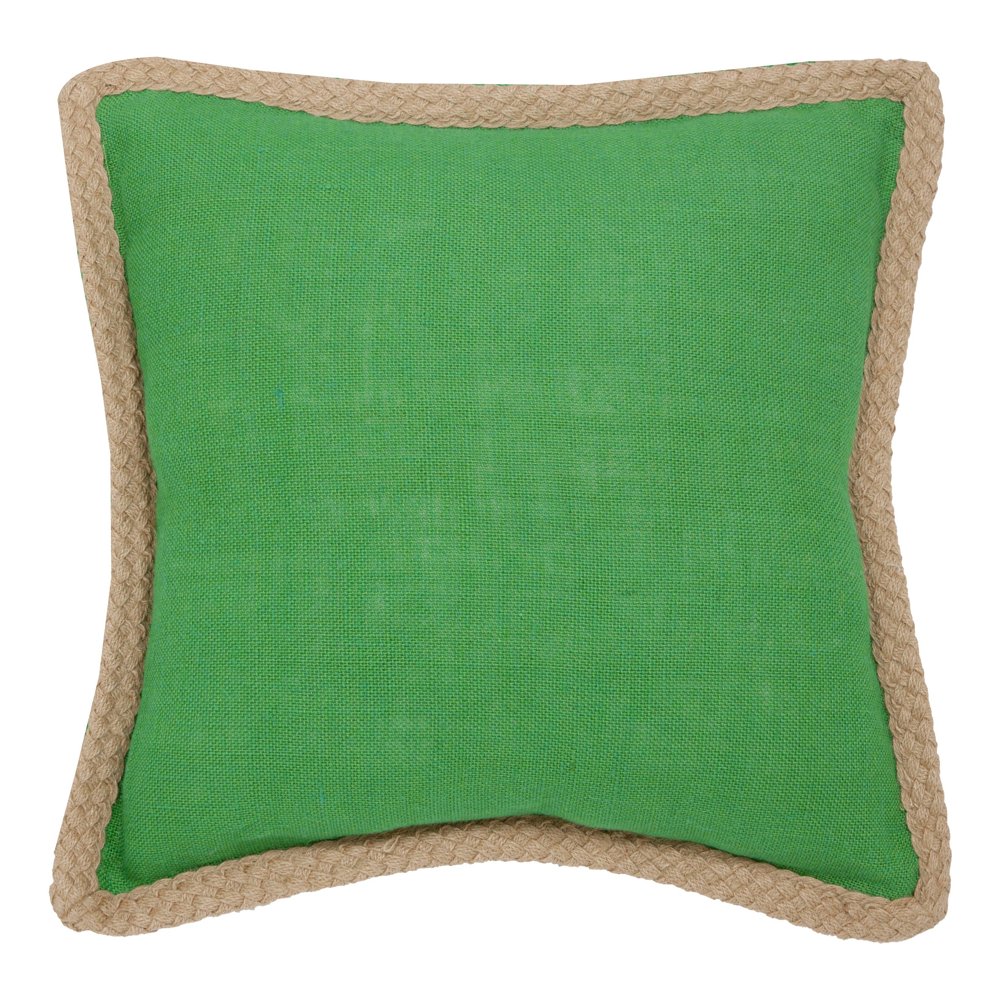 Beachcrest home yorkton jute fiber cotton throw pillow for Home decor yorkton