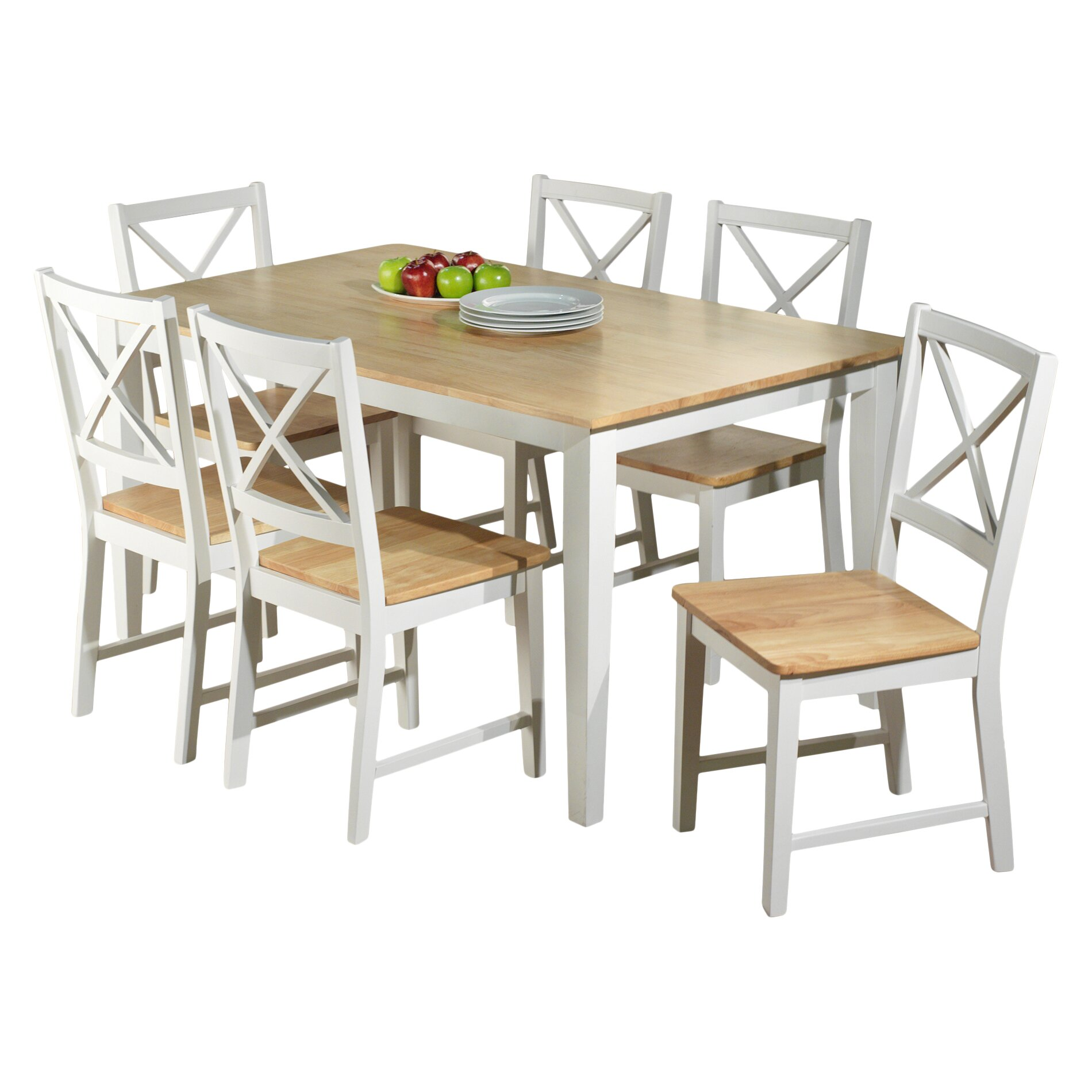 Beachcrest home lafayette 7 piece dining set reviews for 2 piece dining room set