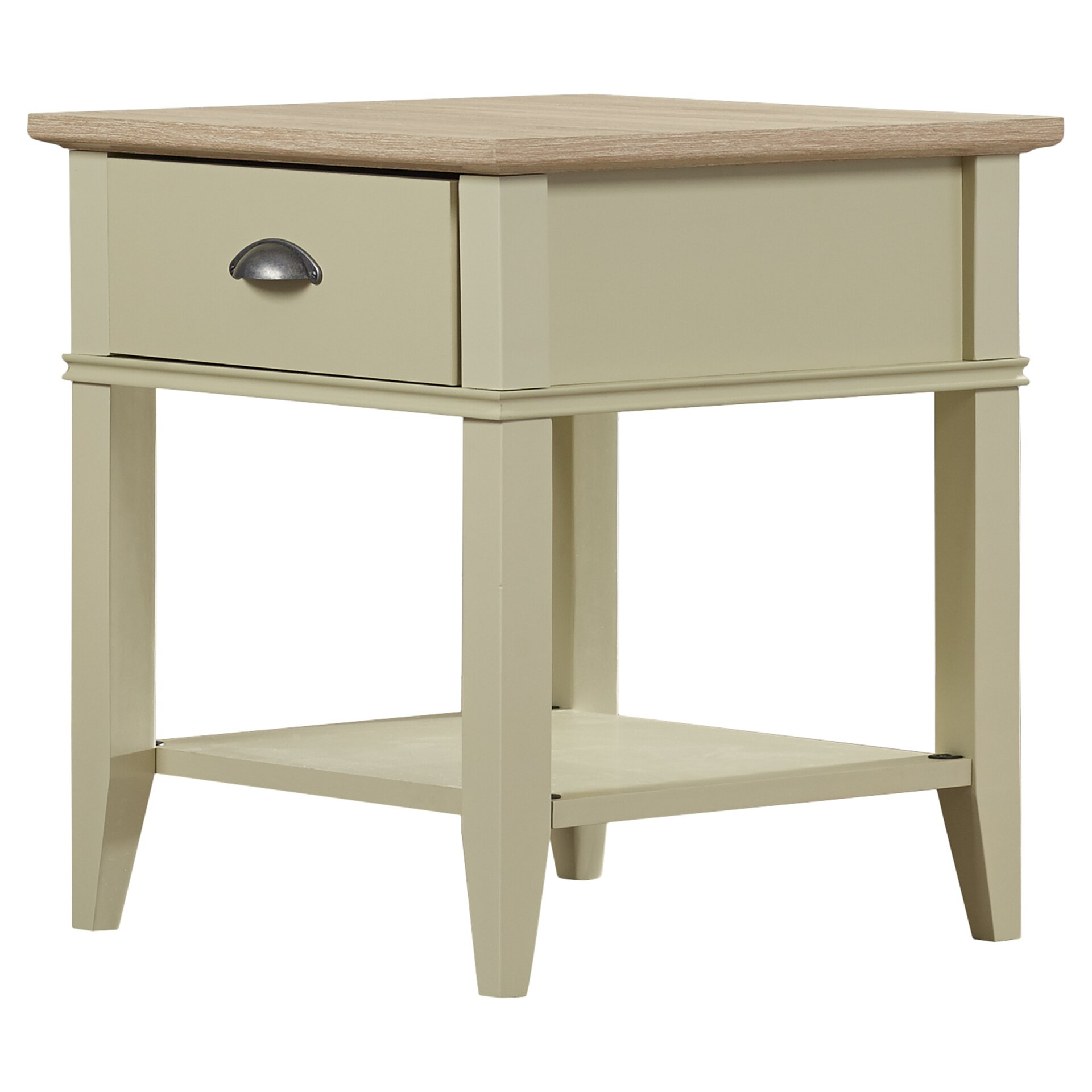 Beachcrest home dundee end table with 1 drawer reviews for End tables with drawers