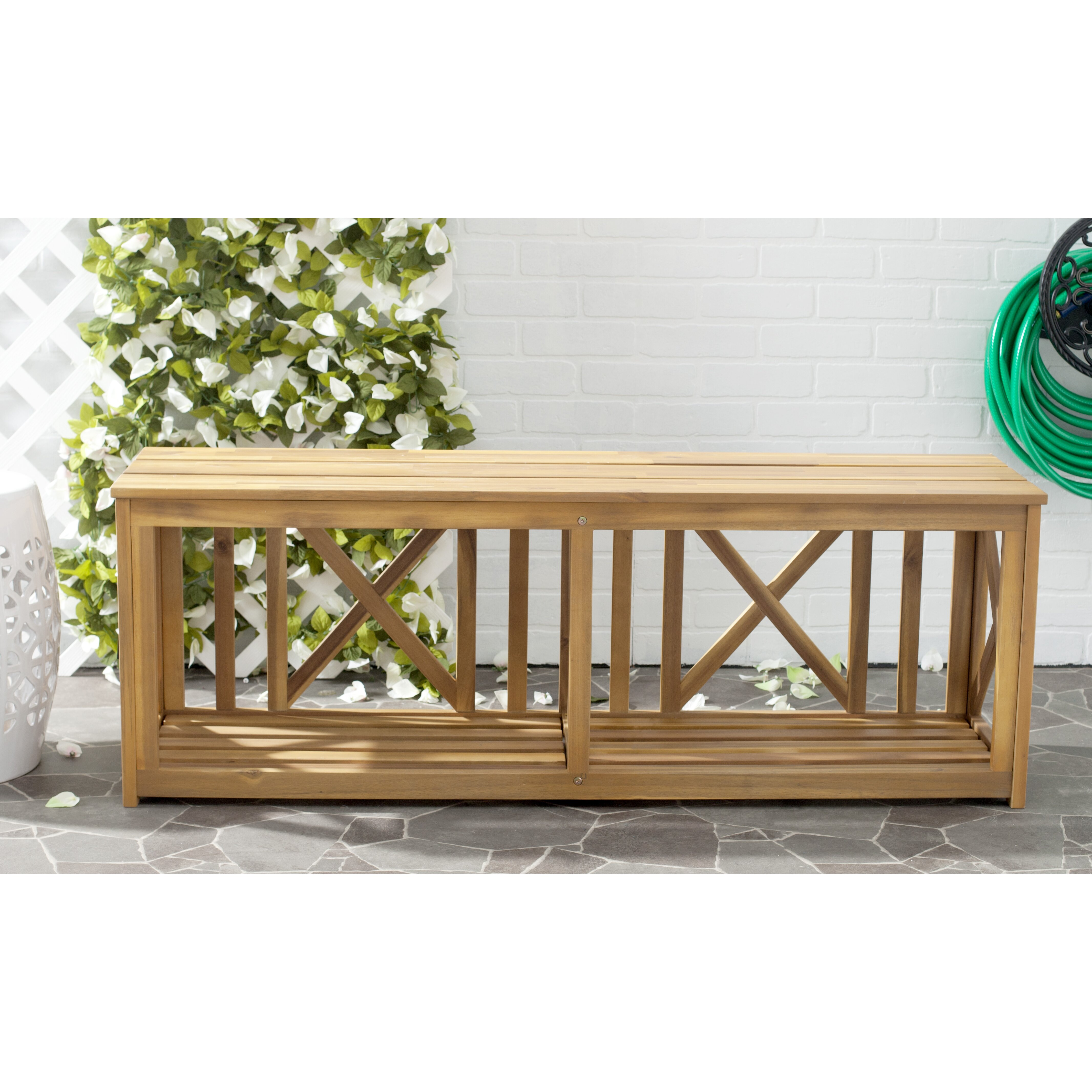 Beachcrest Home Indian Shores Wood Garden Bench Reviews