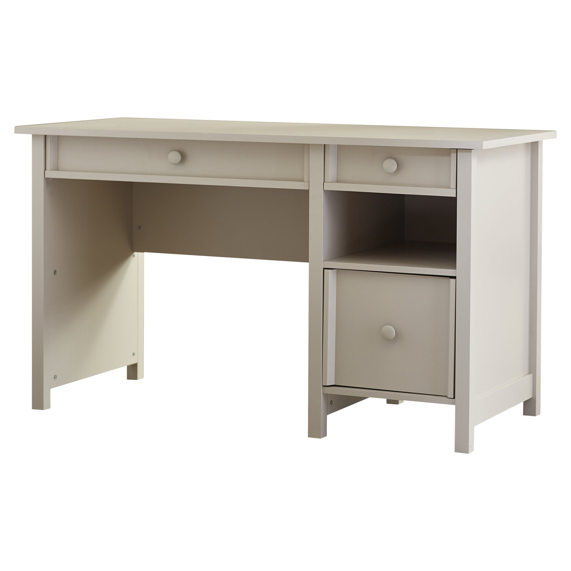 beachcrest home bithlo 3 drawer writing desk reviews wayfair. Black Bedroom Furniture Sets. Home Design Ideas