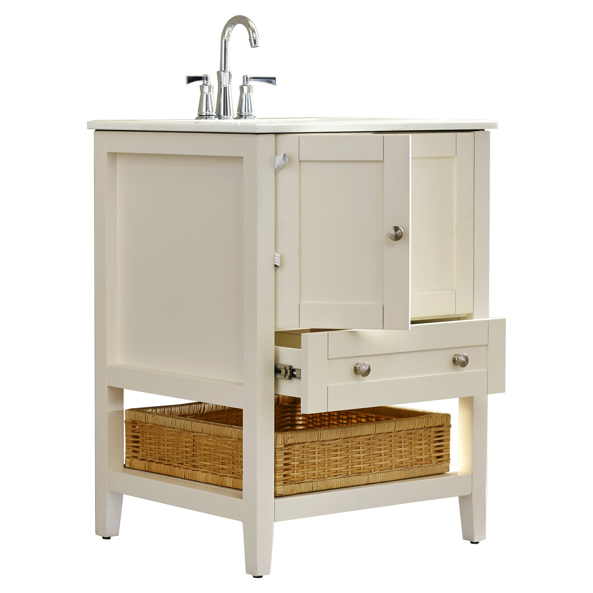 "Beachcrest Home Margot 25"" Single Bathroom Vanity Set"