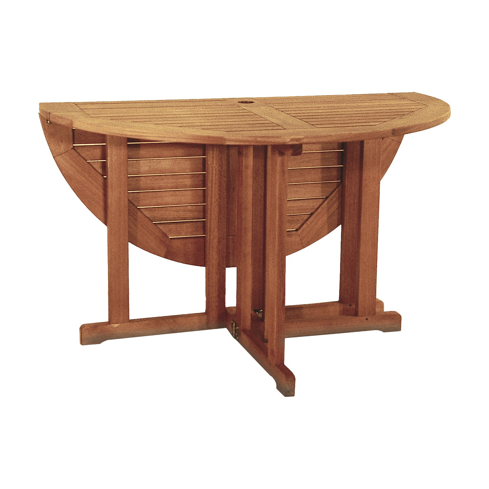 Beachcrest home collinsville round folding dining table reviews - Folding dining table ...