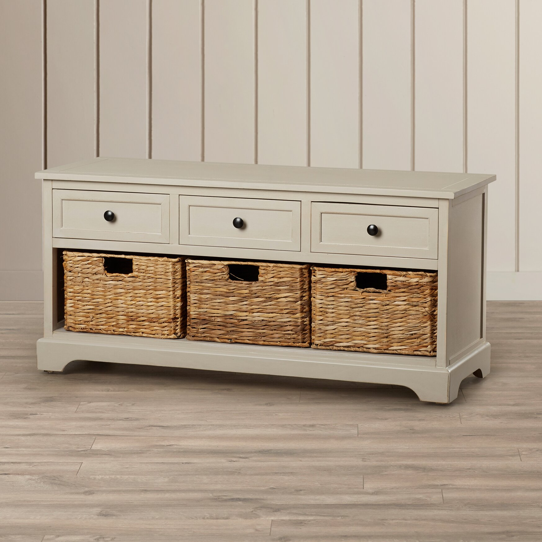adorable entryway benche with storages | Beachcrest Home McKinley 3 Drawer Storage Entryway Bench ...