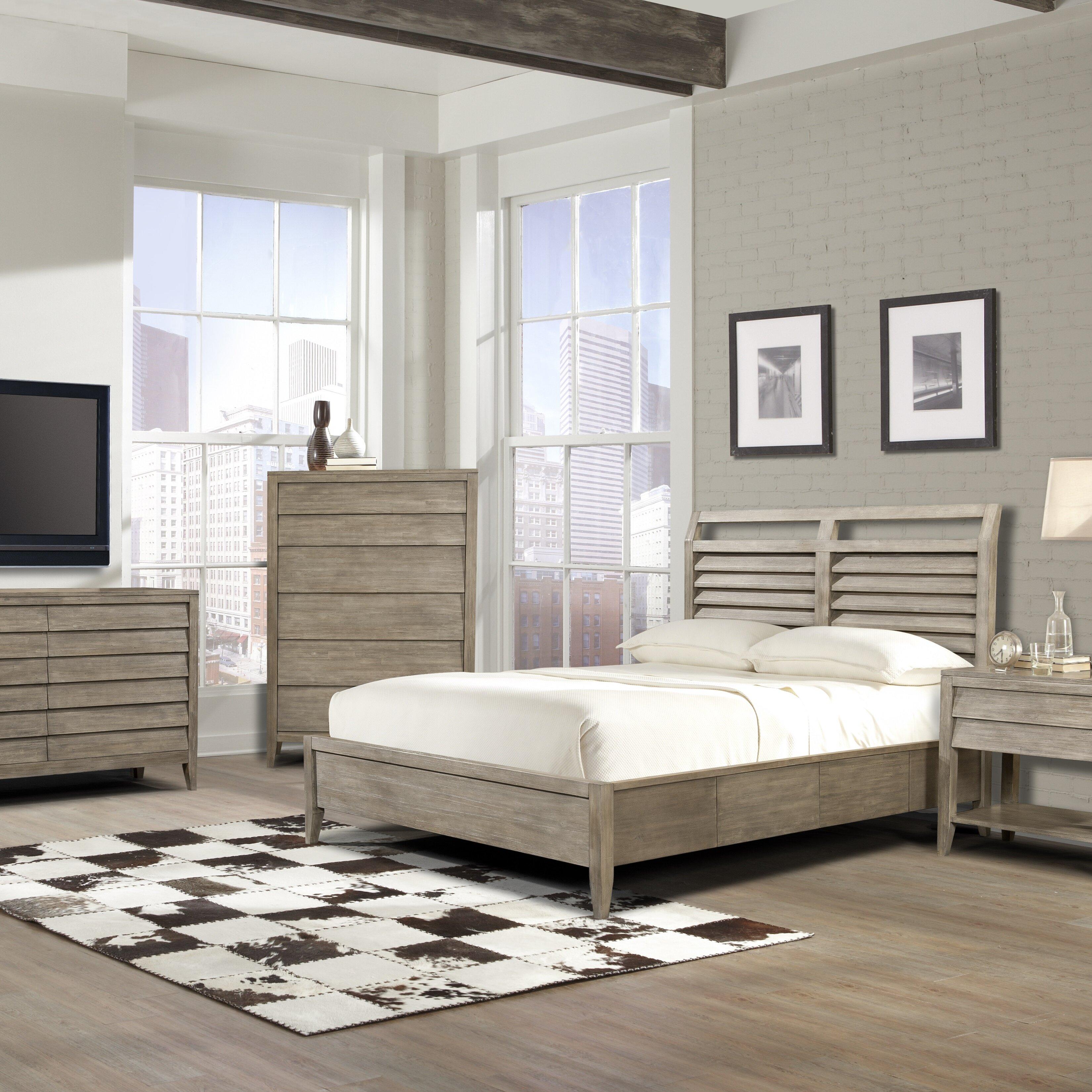 Beachcrest home platform customizable bedroom set for Platform bedroom sets