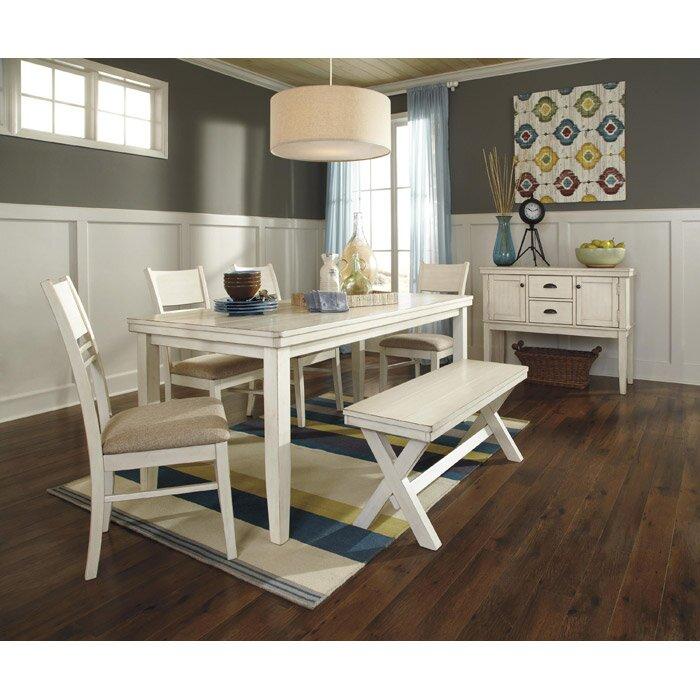 Beachcrest Home Ivanhoe Upholstered Kitchen Bench
