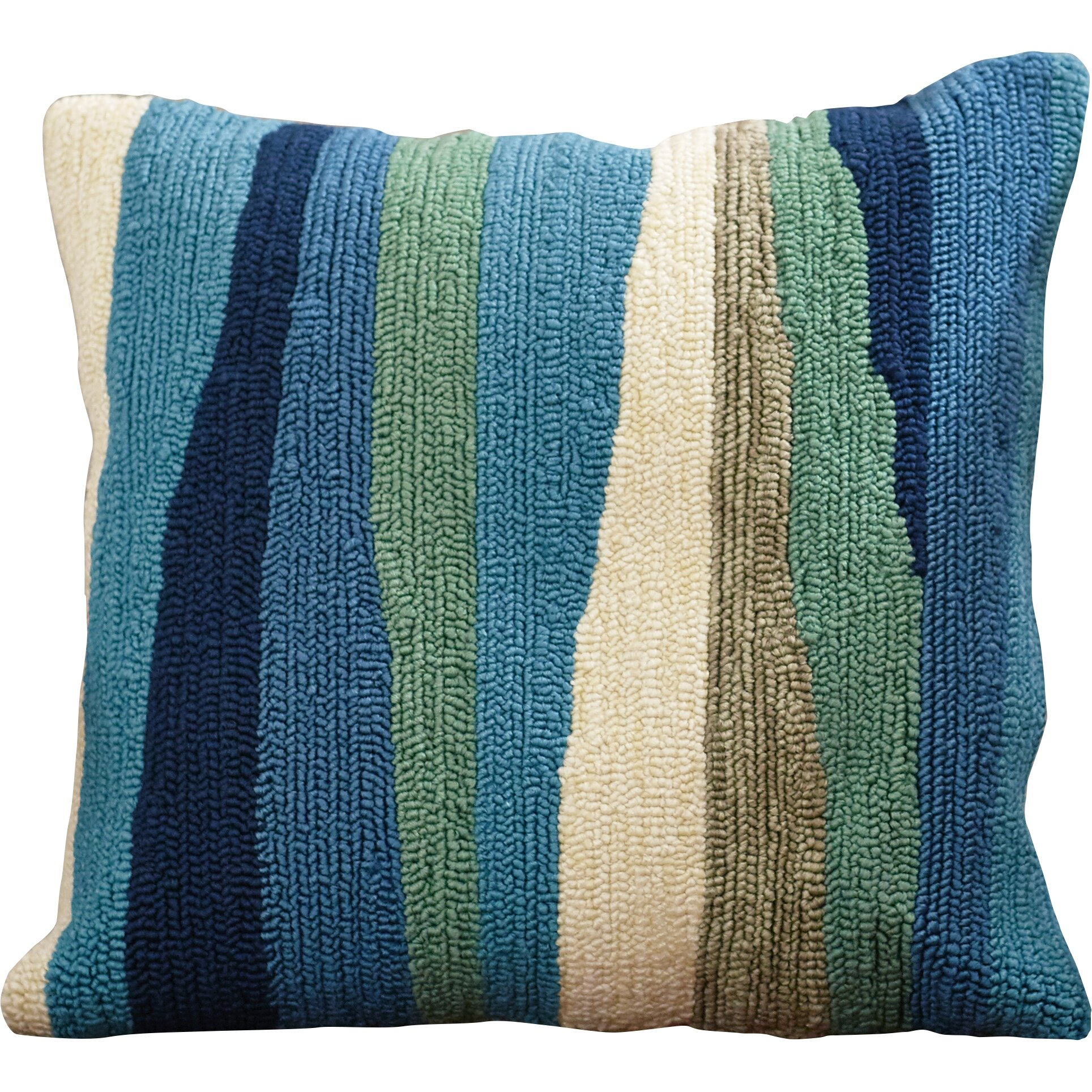 Throw Pillows In Abuja : Beachcrest Home Belfort Ocean Abstract Decorative Indoor/Outdoor Throw Pillow & Reviews Wayfair