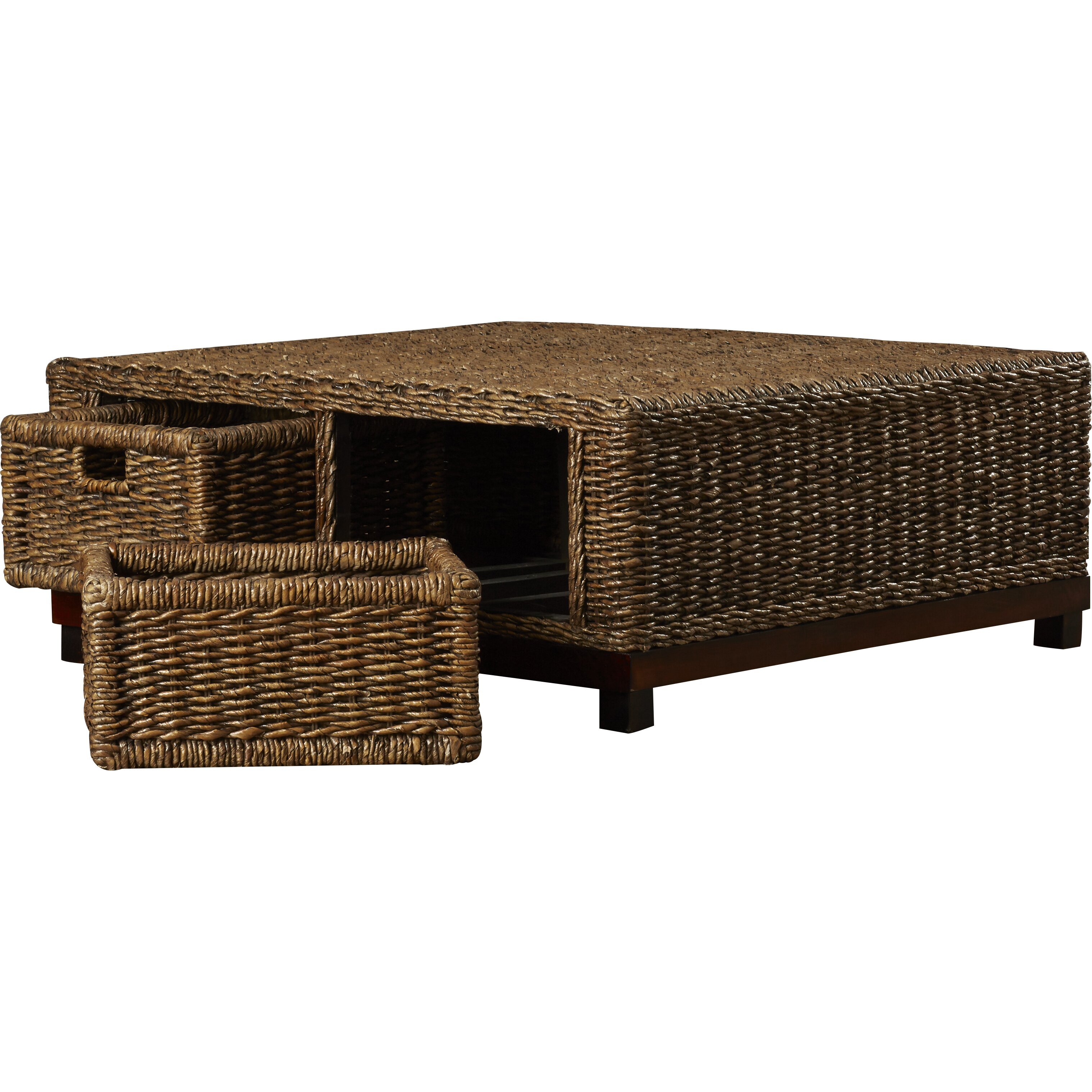 Beachcrest Home Bayberry Woven Coffee Table Reviews Wayfair