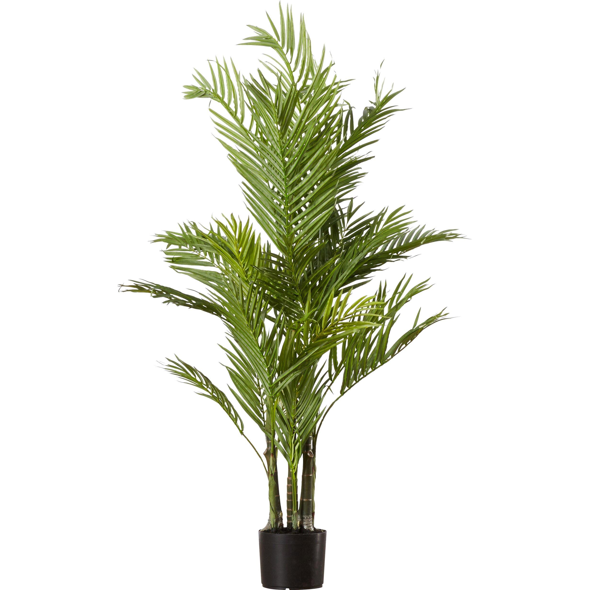 Beachcrest Home Brookings Silk Areca Palm Tree In Pot