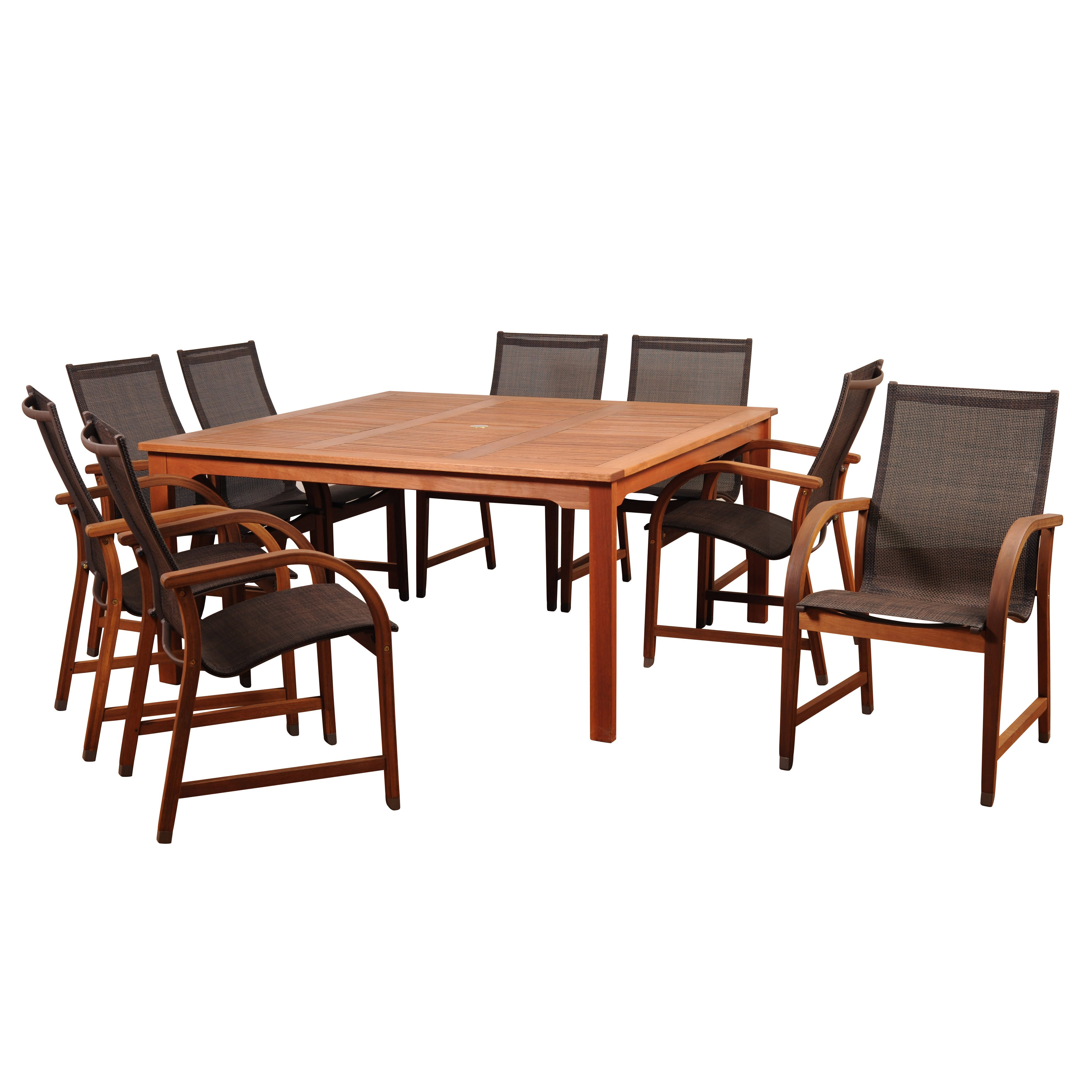 Beachcrest home elsmere 9 piece dining set reviews for Outdoor furniture 9 piece
